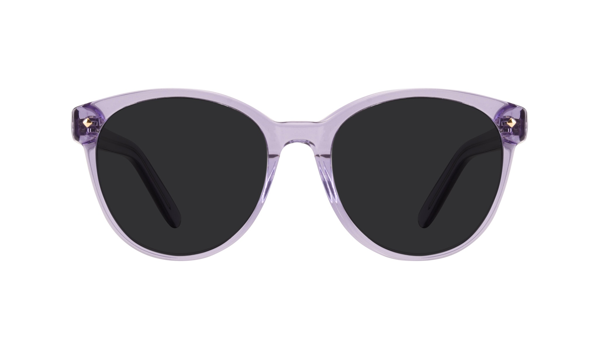 Affordable Fashion Glasses Round Sunglasses Women Eclipse Lavender Front