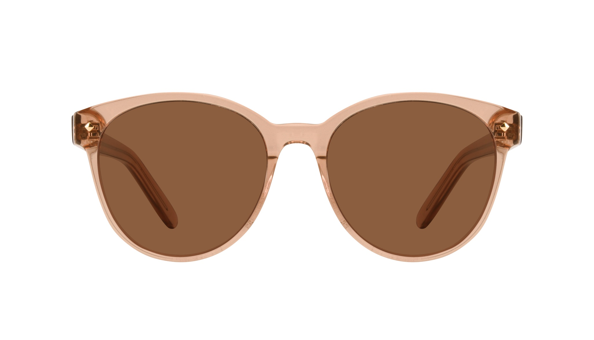 Affordable Fashion Glasses Round Sunglasses Women Eclipse Toffee Front
