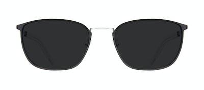 Affordable Fashion Glasses Rectangle Sunglasses Men Edge Black Silver Front