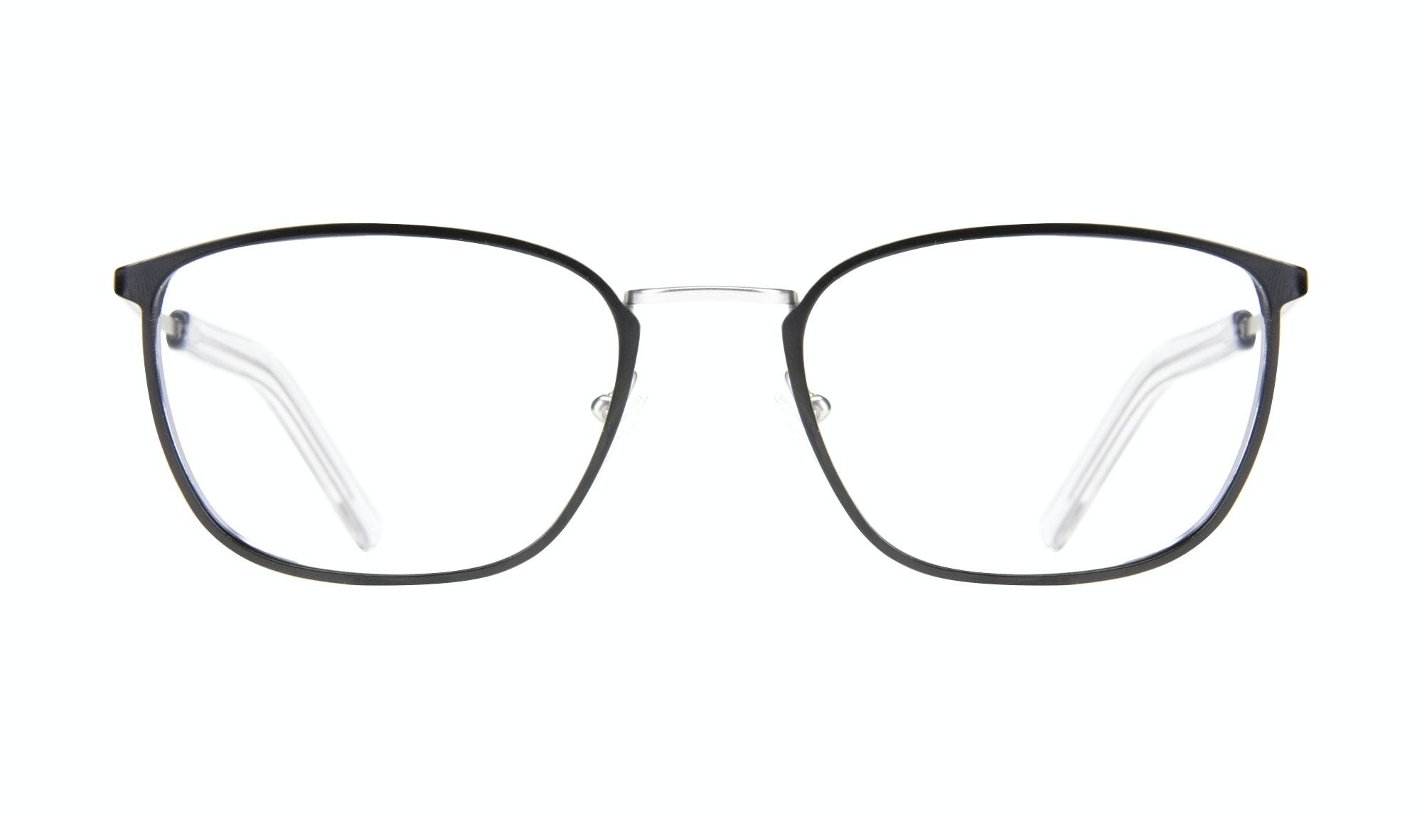 Affordable Fashion Glasses Rectangle Eyeglasses Men Edge Black Silver