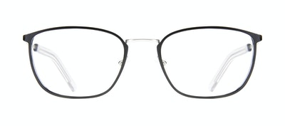 Affordable Fashion Glasses Rectangle Eyeglasses Men Edge Black Silver Front