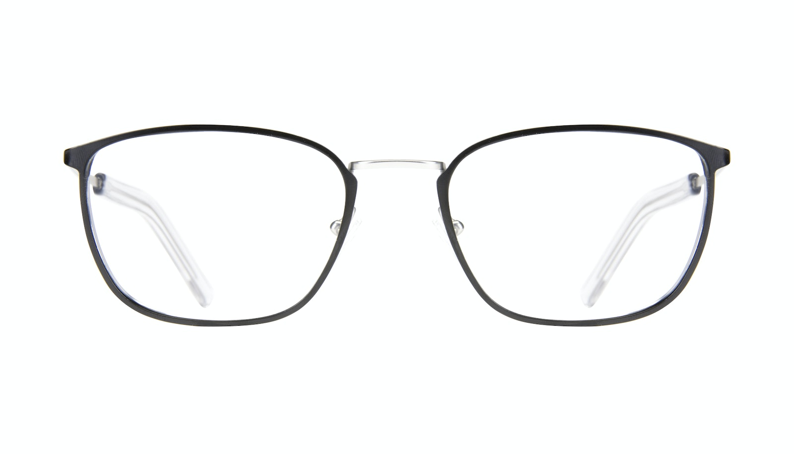 Affordable Fashion Glasses Rectangle Eyeglasses Men Edge Black Silver