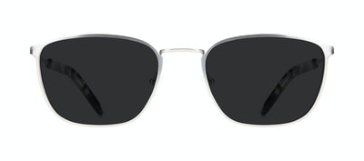 Affordable Fashion Glasses Rectangle Sunglasses Men Edge Silver Front