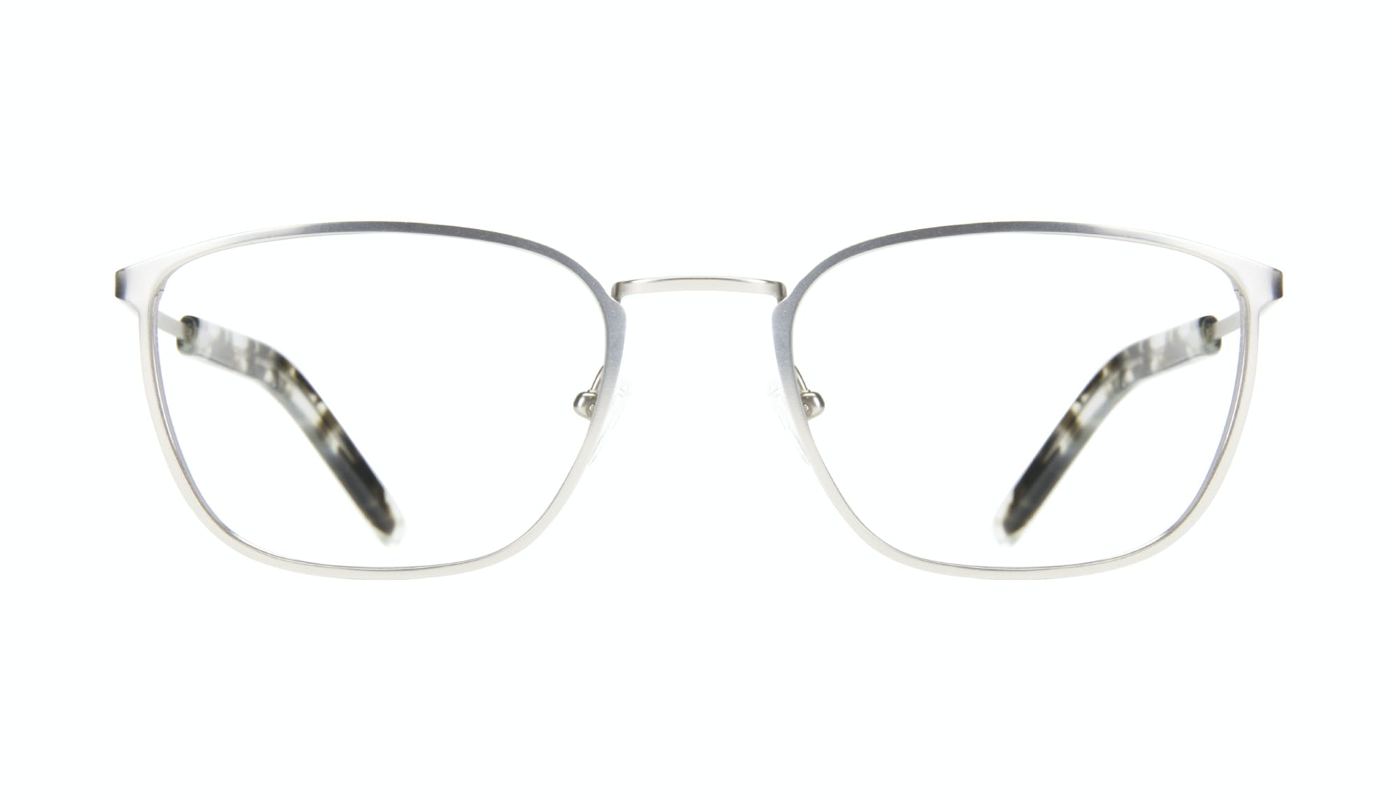Affordable Fashion Glasses Rectangle Eyeglasses Men Edge Silver Front