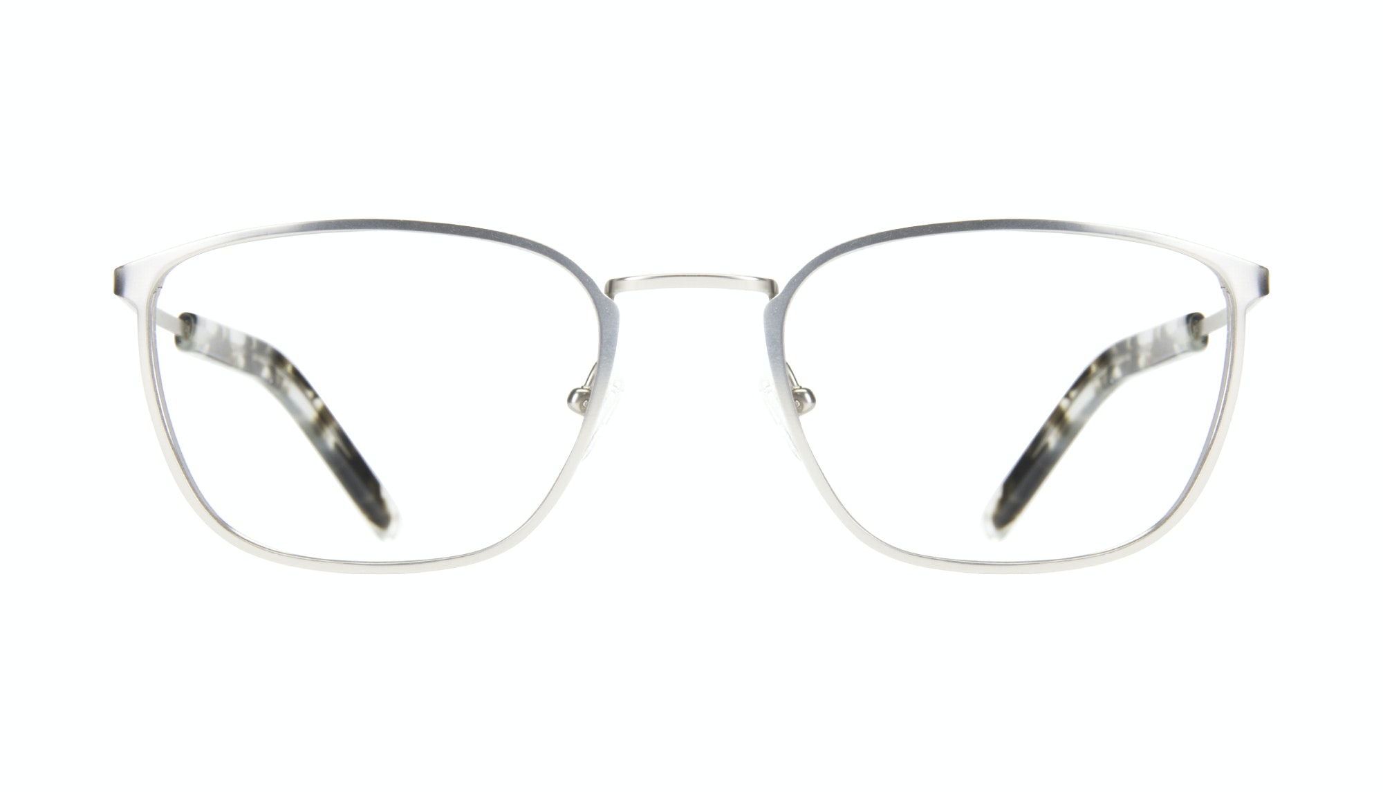 Affordable Fashion Glasses Rectangle Eyeglasses Men Edge Silver Front
