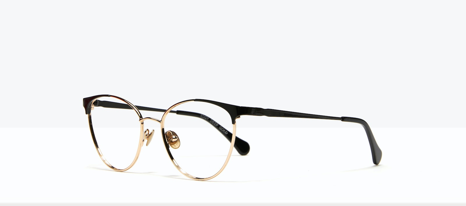 Affordable Fashion Glasses Cat Eye Eyeglasses Women Edgy Deep Gold Tilt
