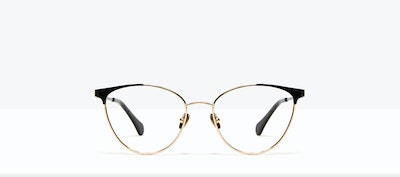 Affordable Fashion Glasses Cat Eye Eyeglasses Women Edgy Deep Gold Front