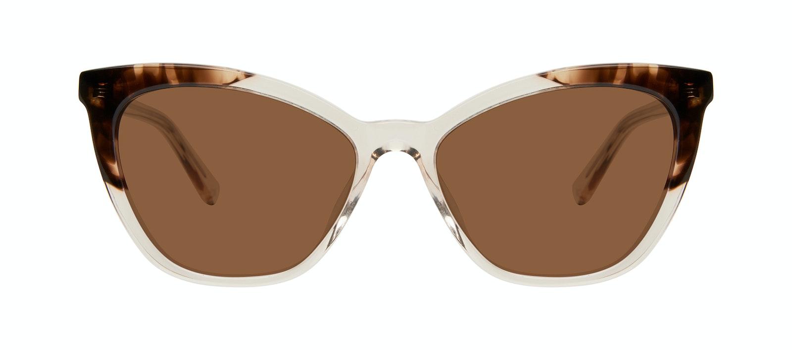 Affordable Fashion Glasses Cat Eye Sunglasses Women Elan Golden Tortoise Front