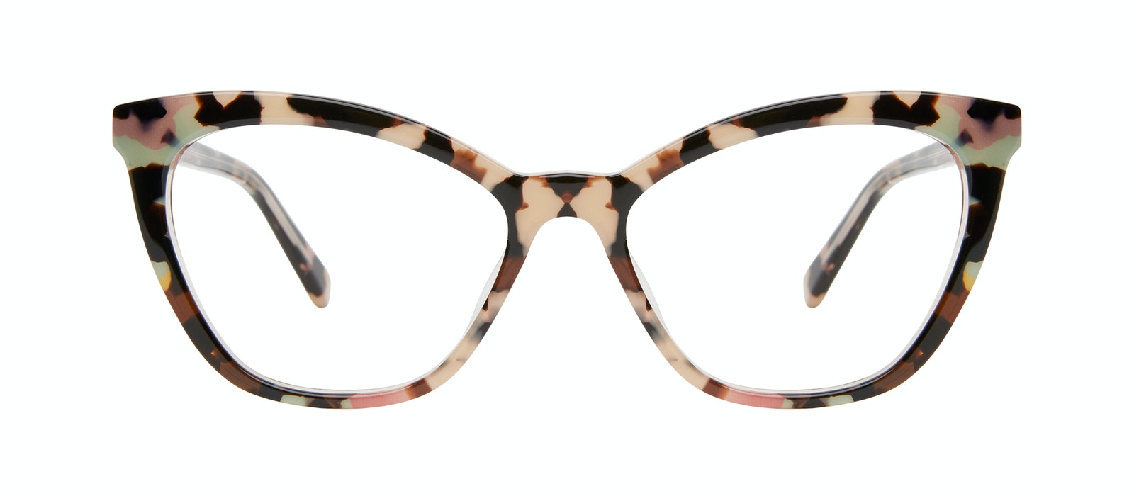Affordable Fashion Glasses Cat Eye Eyeglasses Women Elan Pastel Tort Front
