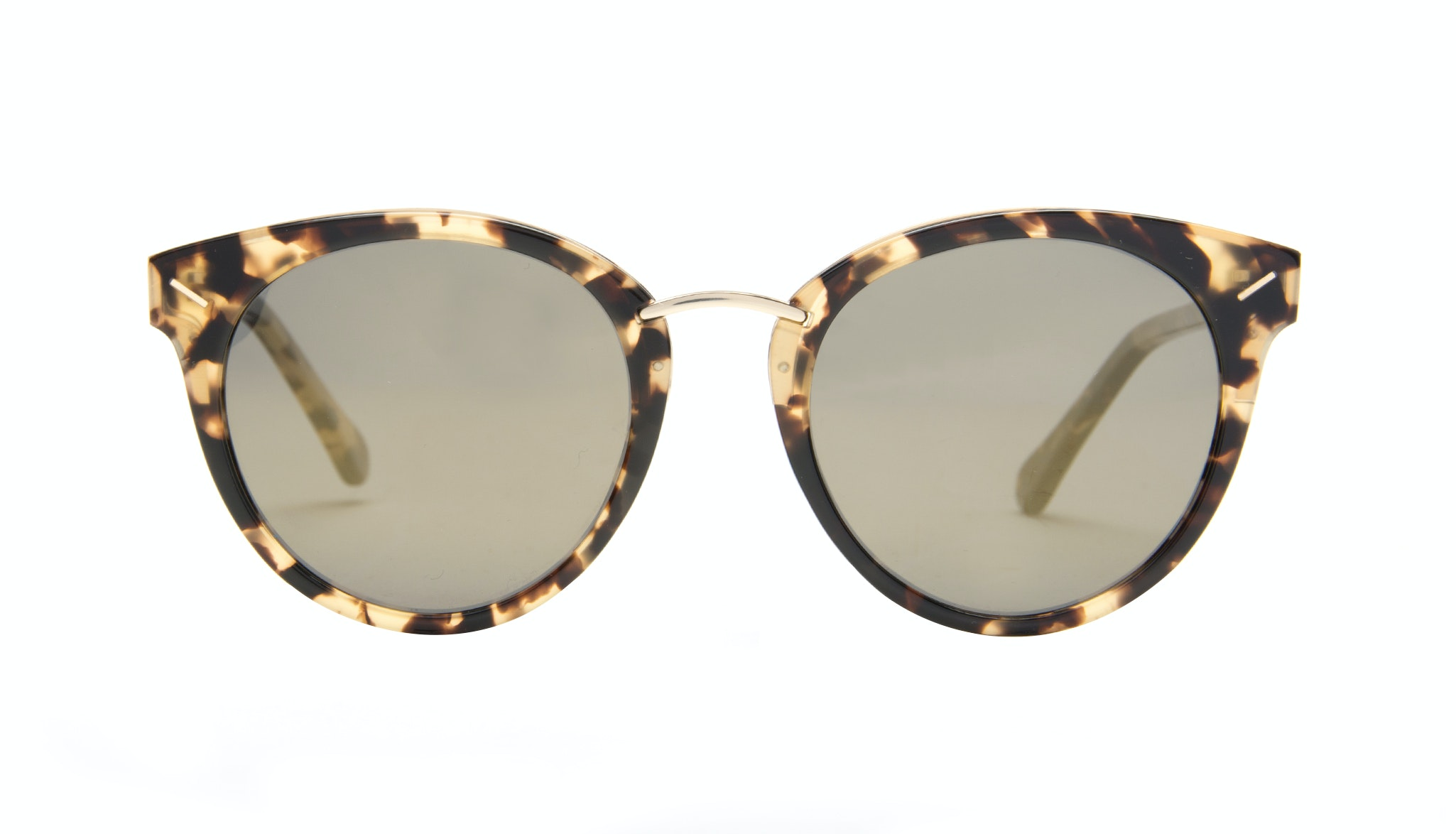 Affordable Fashion Glasses Cat Eye Round Sunglasses Women Element Gold Tort