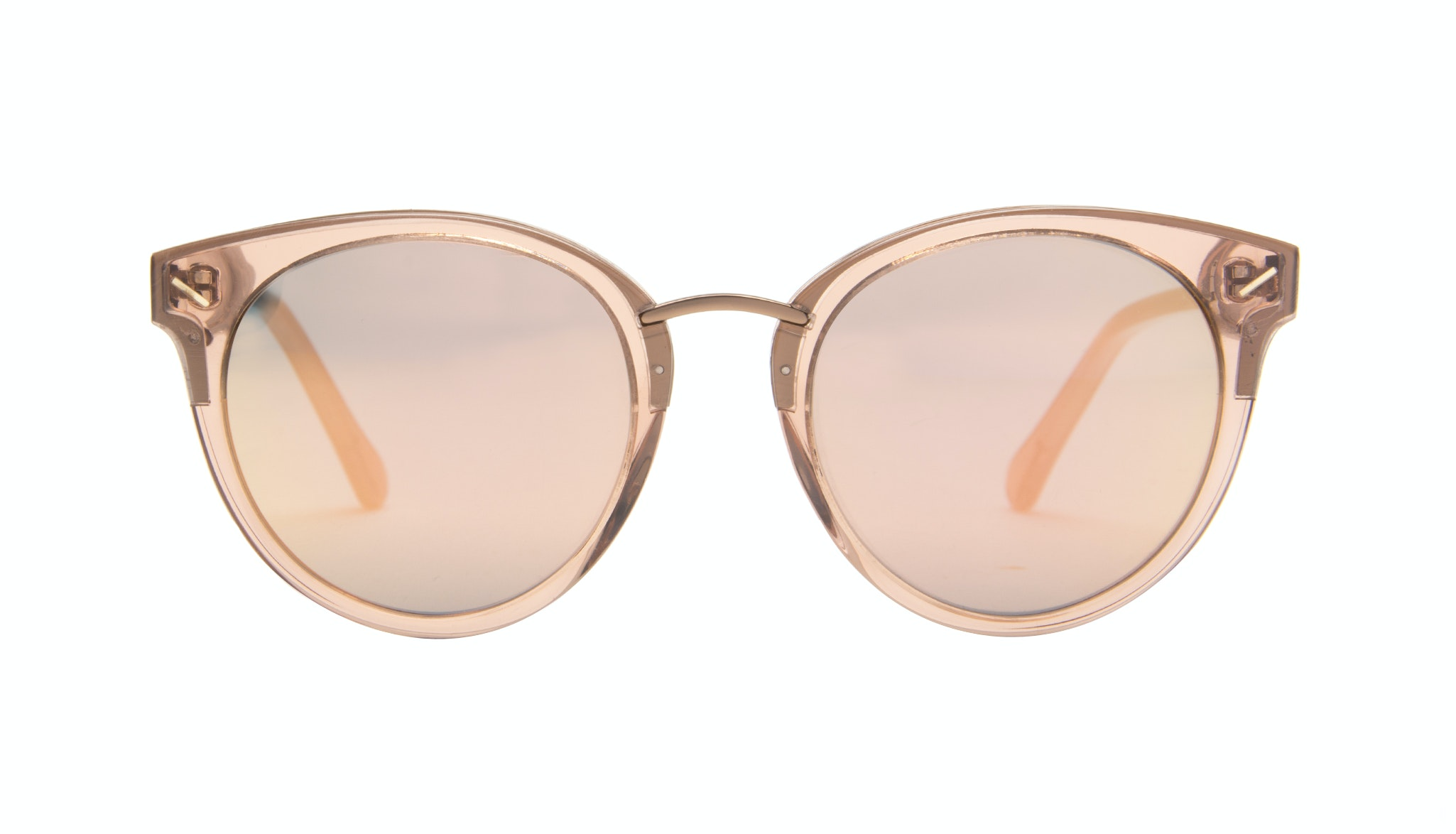 Affordable Fashion Glasses Cat Eye Round Sunglasses Women Element Rose