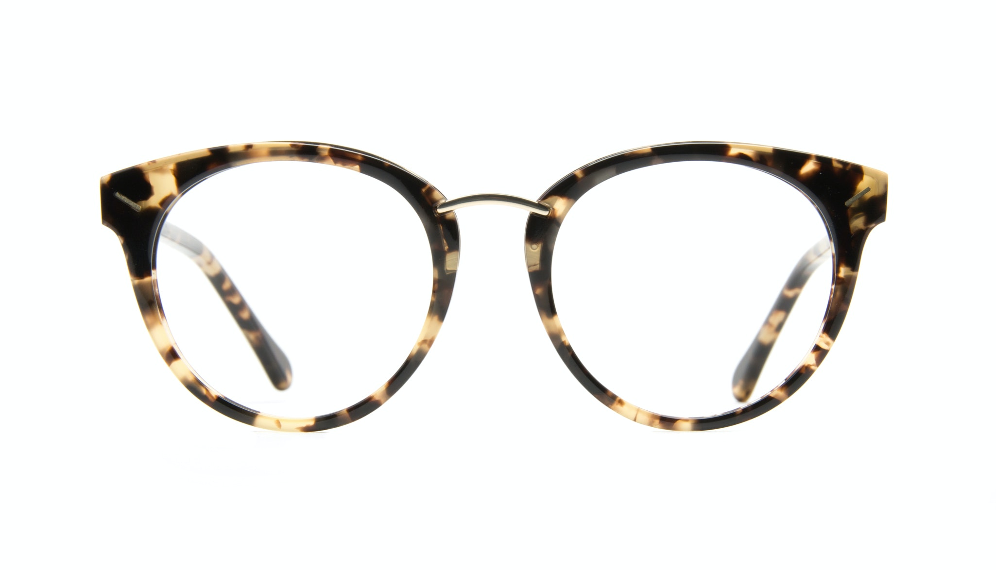 Affordable Fashion Glasses Cat Eye Round Eyeglasses Women Element Gold Tort Front
