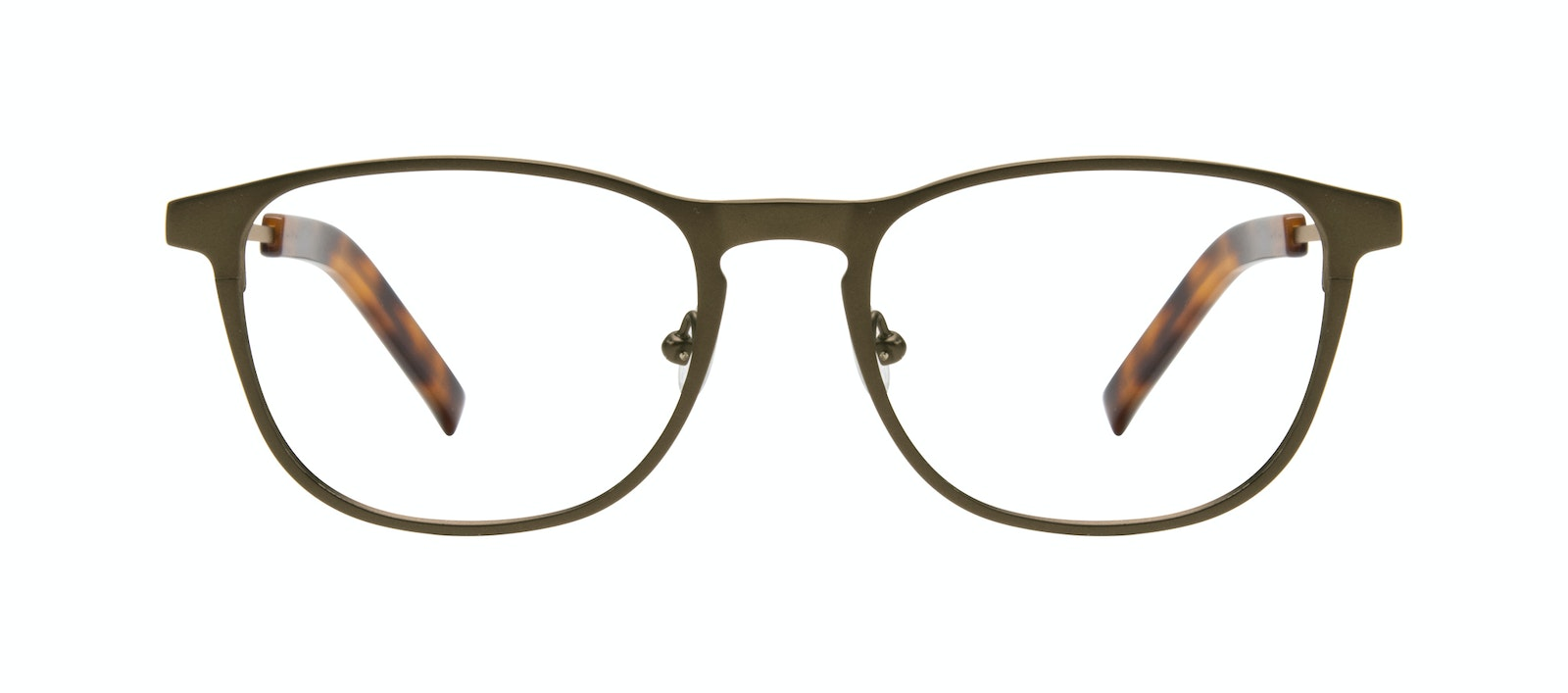 Affordable Fashion Glasses Square Eyeglasses Men Elevate Khaki Front