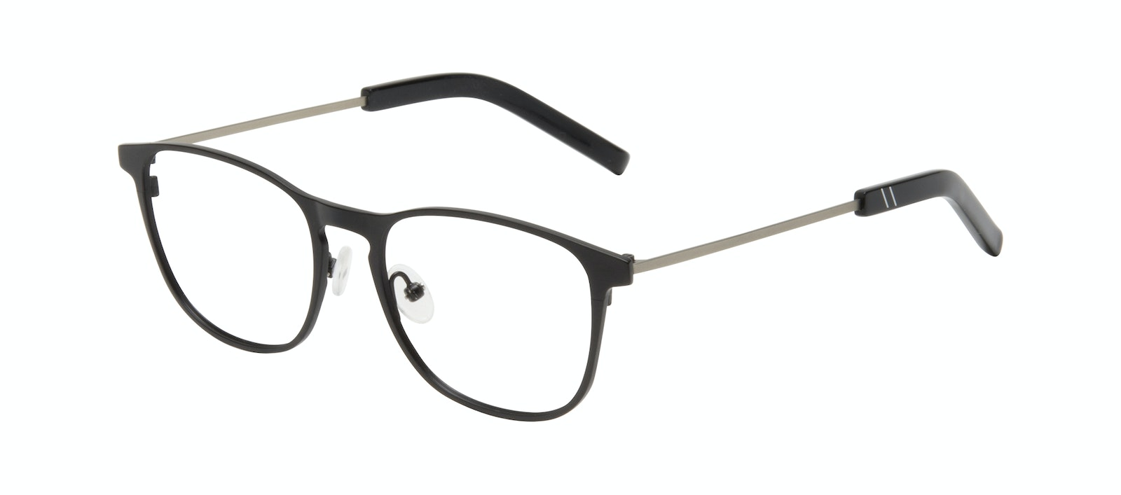 Affordable Fashion Glasses Square Eyeglasses Men Elevate Onyx Matte Tilt