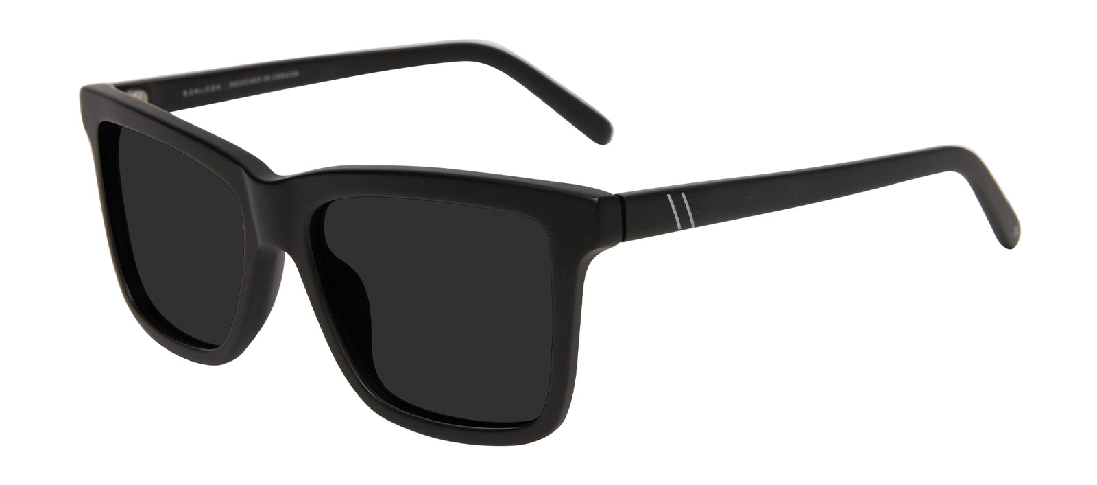 Affordable Fashion Glasses Square Sunglasses Men Elite Matte Black Tilt