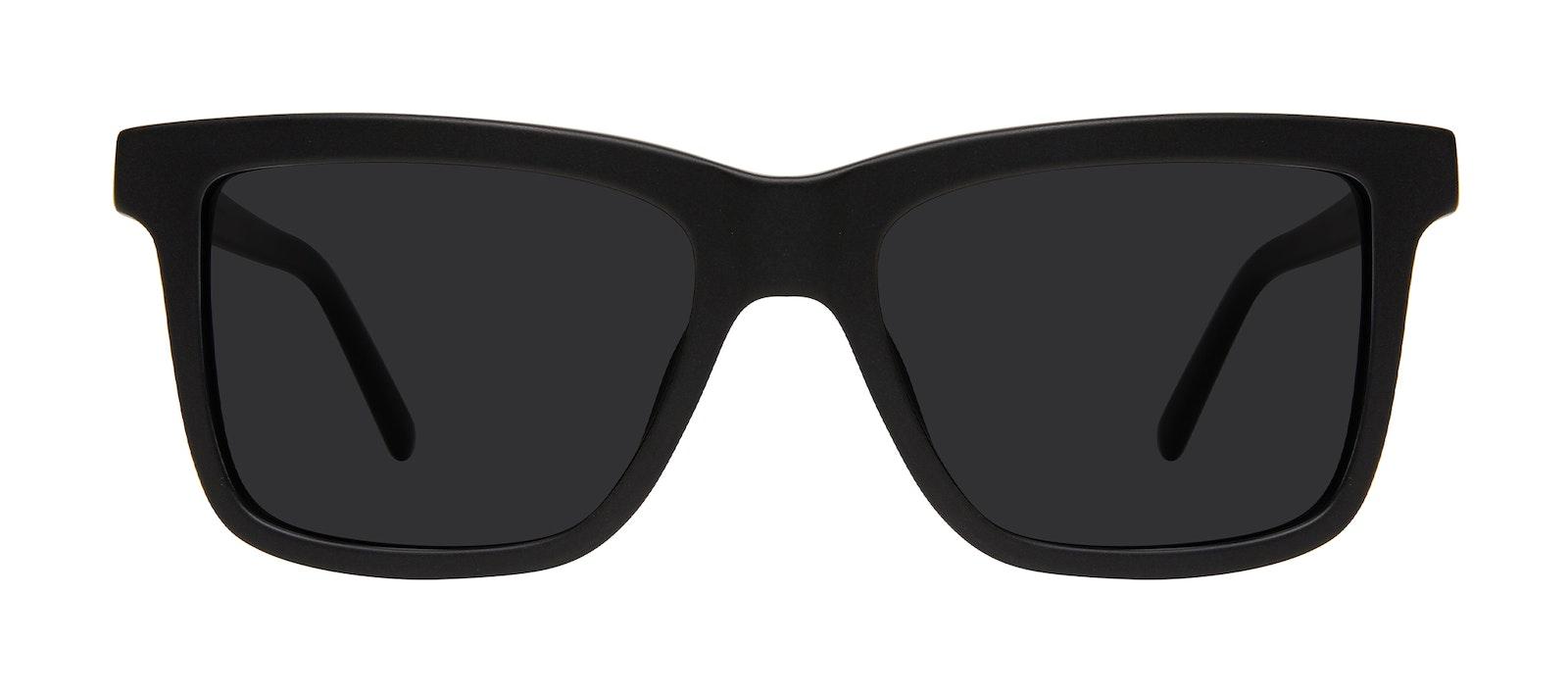 Affordable Fashion Glasses Square Sunglasses Men Elite Matte Black Front