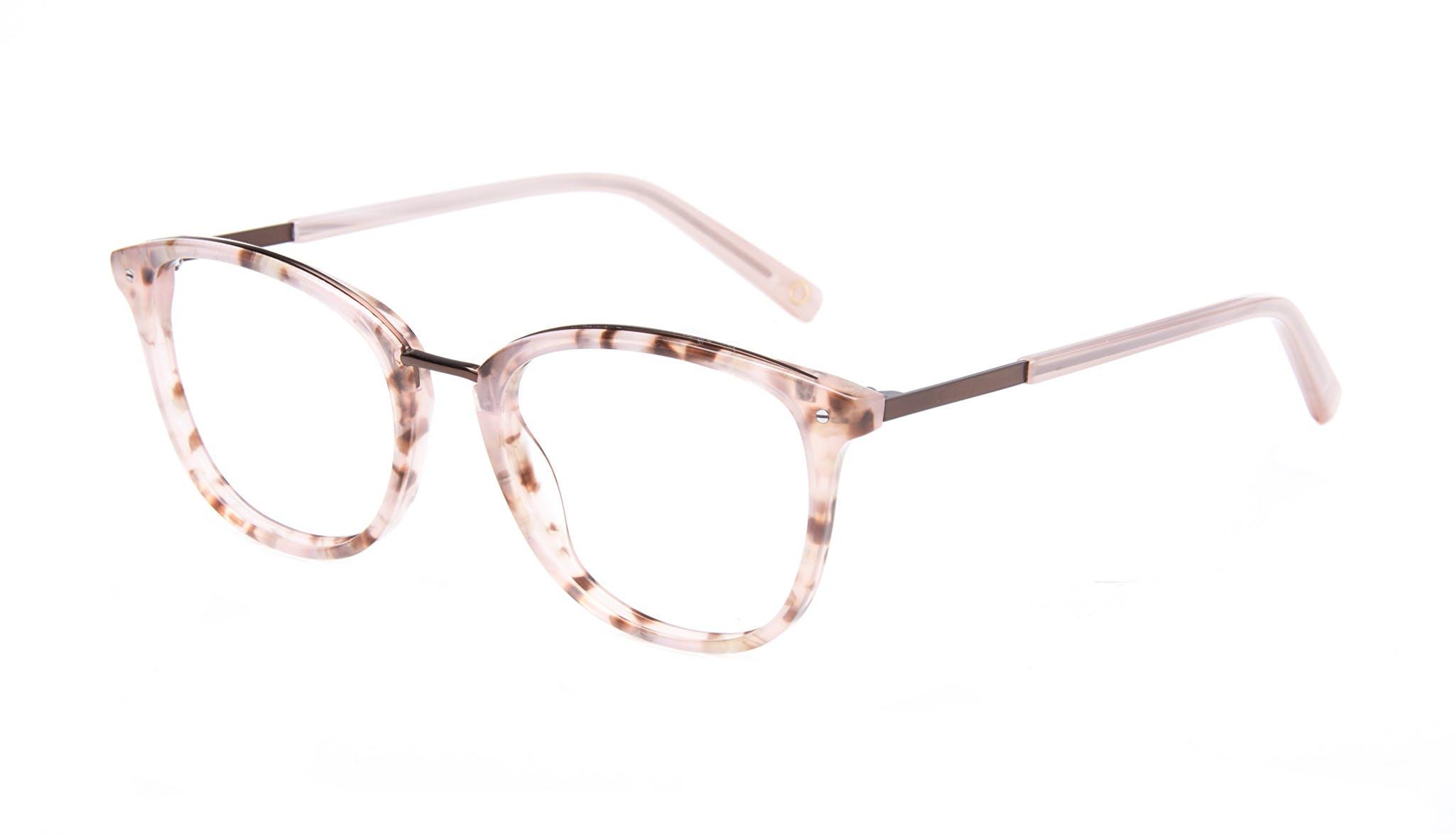 Affordable Fashion Glasses Square Round Eyeglasses Women Bella Blush Tortie Tilt