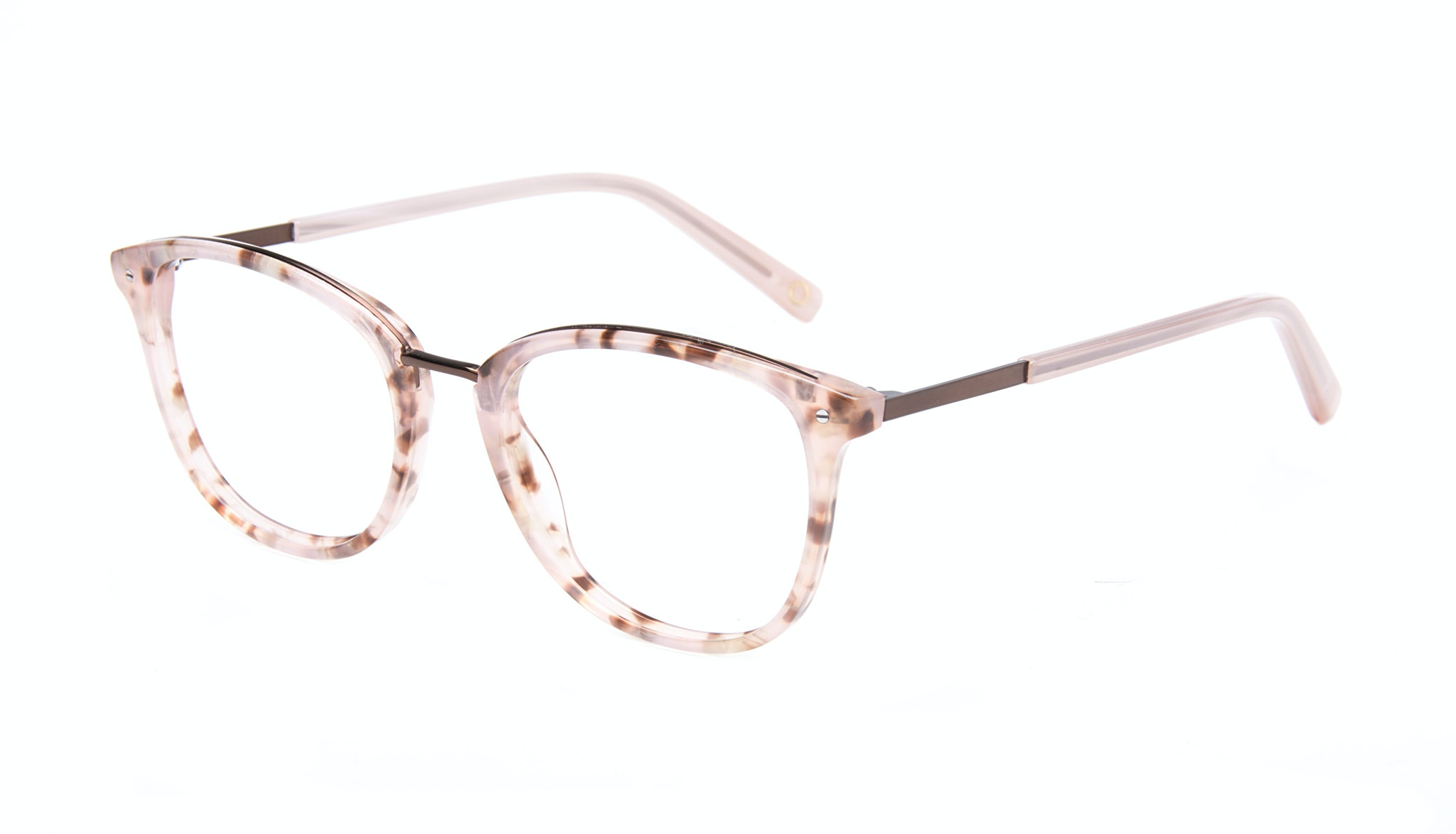 Affordable Fashion Glasses Square Round Eyeglasses Women Ella Blush Tortie Tilt