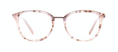 Affordable Fashion Glasses Square Round Eyeglasses Women Bella Blush Tortie Front