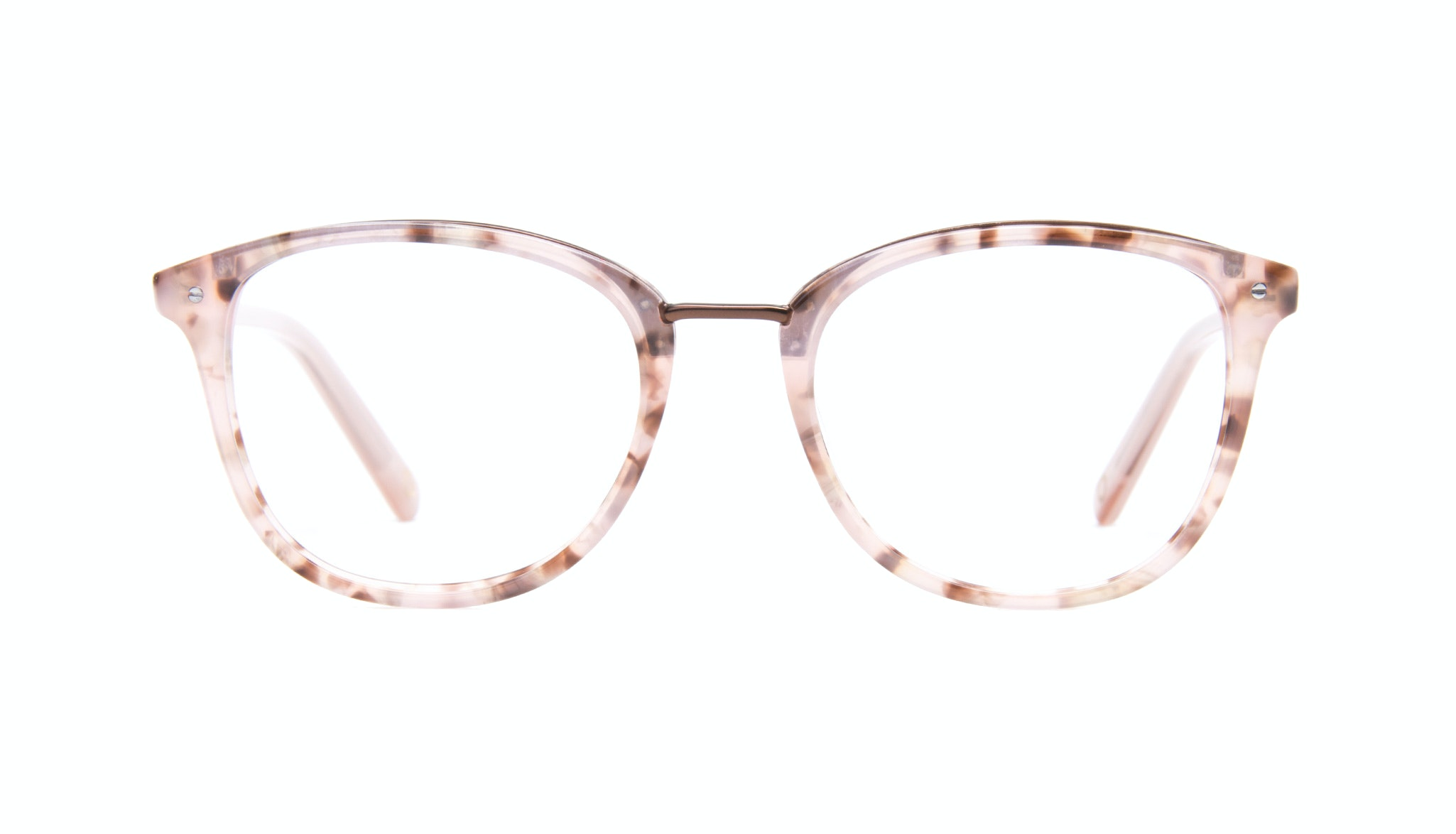 Affordable Fashion Glasses Square Round Eyeglasses Women Ella Blush Tortie