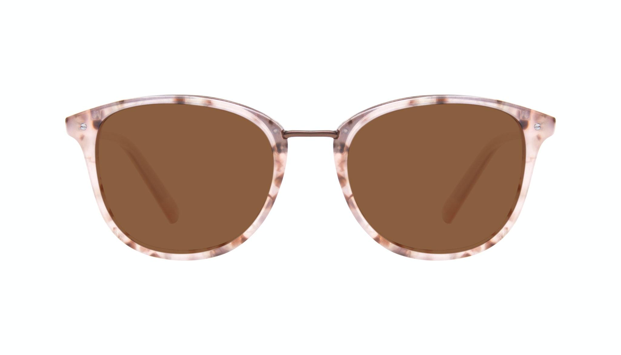 Affordable Fashion Glasses Square Round Sunglasses Women Bella Blush Tortie