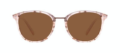 Affordable Fashion Glasses Square Round Sunglasses Women Bella Blush Tortie Front