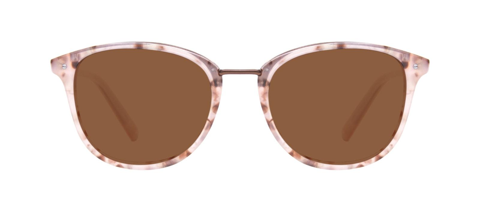 Affordable Fashion Glasses Square Round Sunglasses Women Bella Blush Tortie Front