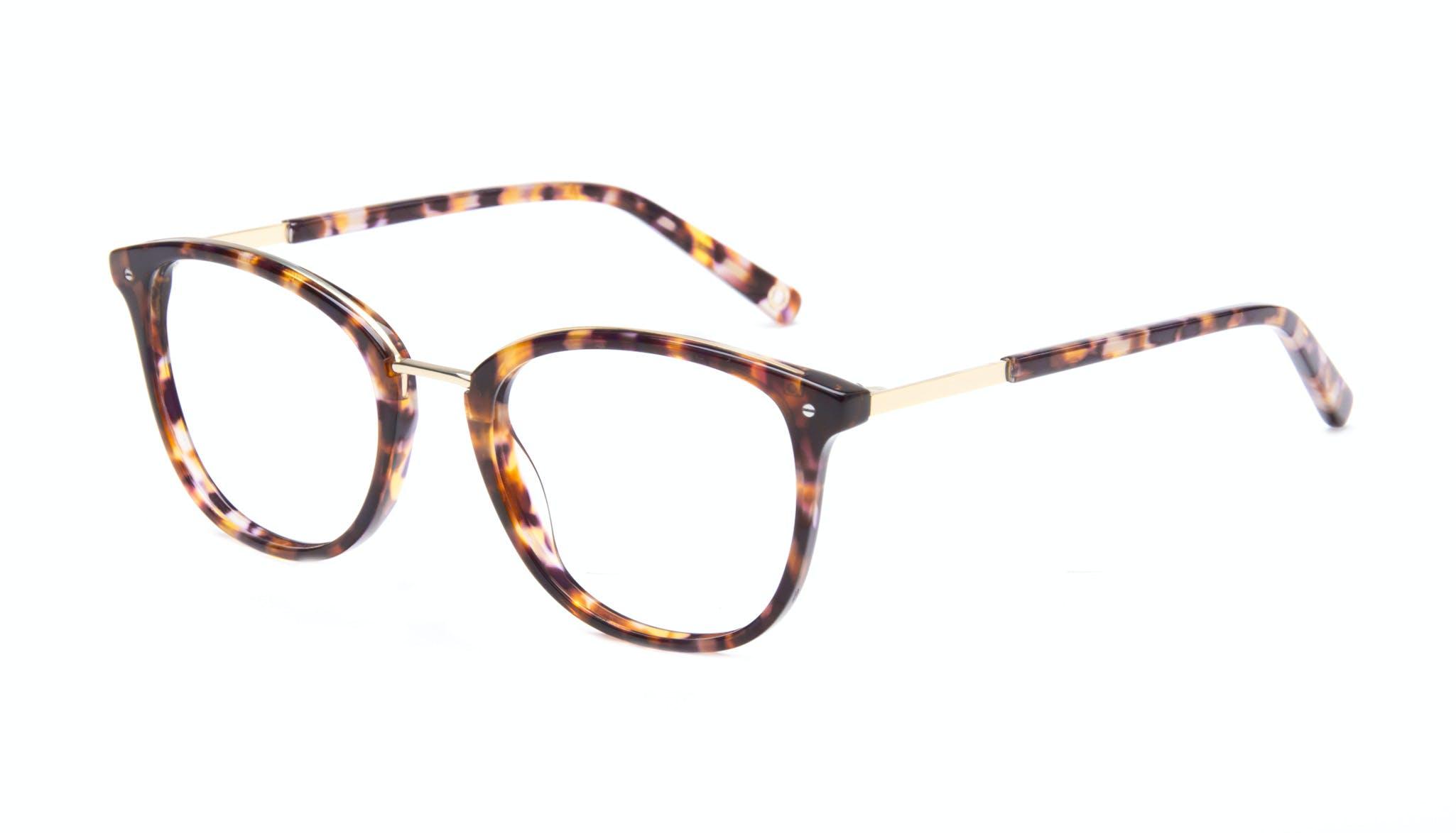 Affordable Fashion Glasses Square Round Eyeglasses Women Bella Dark Tortoise Tilt