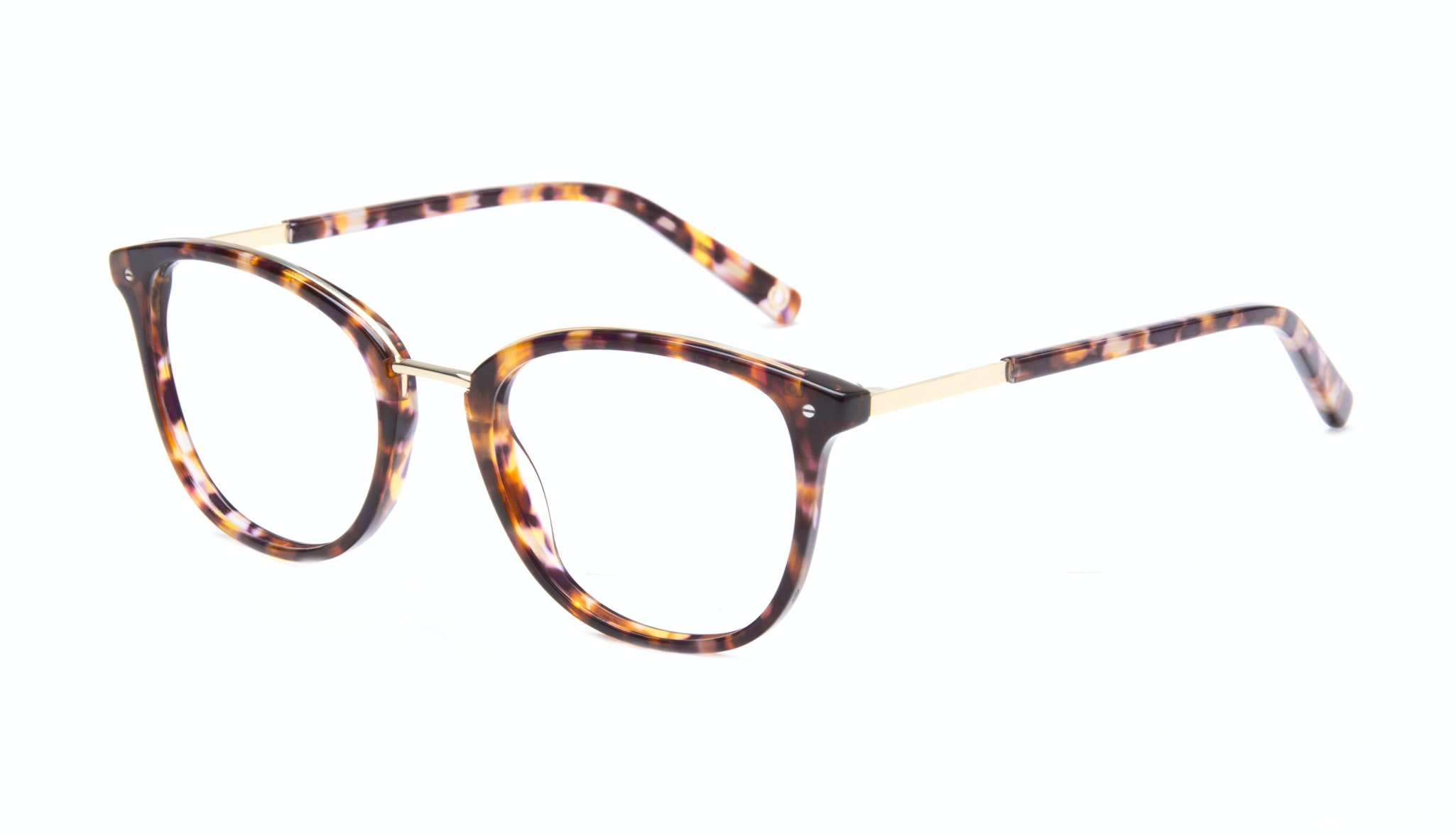 Affordable Fashion Glasses Square Round Eyeglasses Women Ella Dark Tortoise Tilt