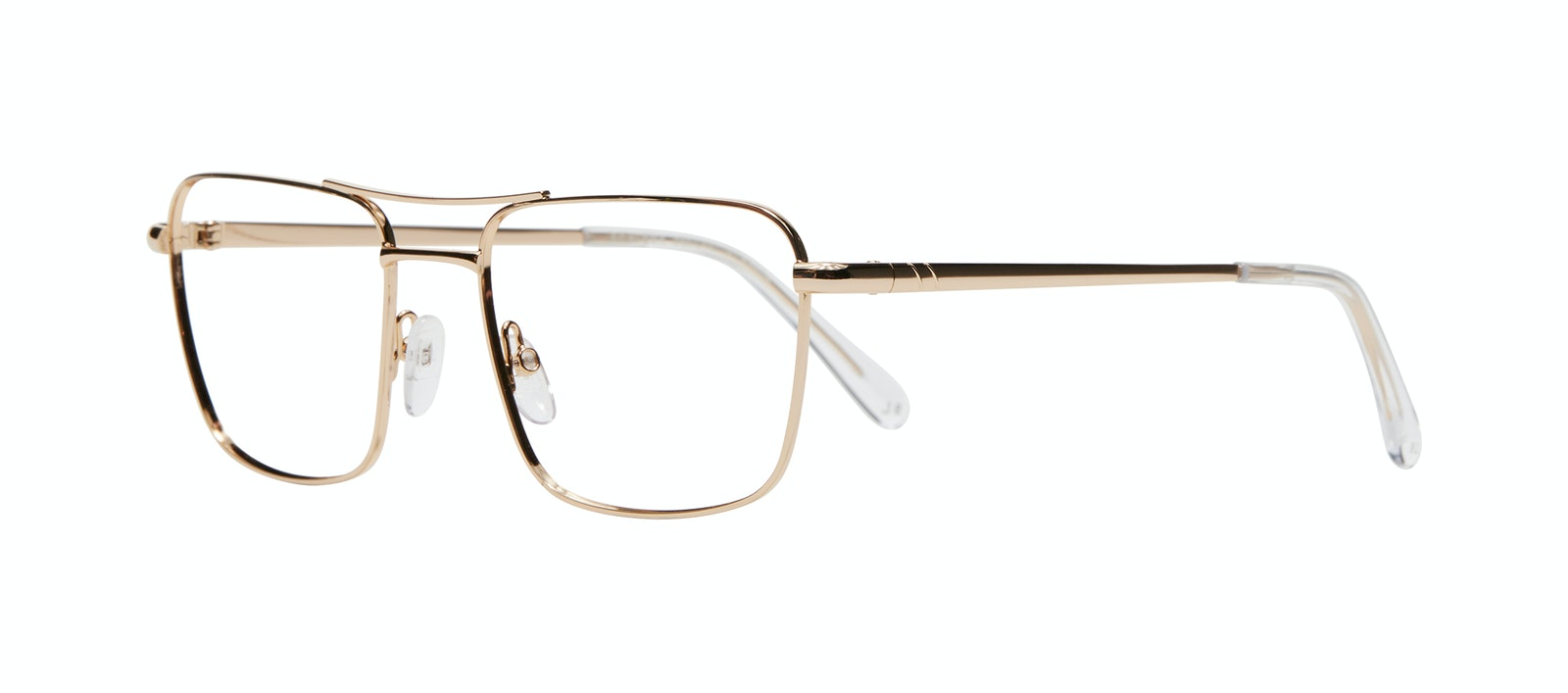 Affordable Fashion Glasses Aviator Eyeglasses Men Emerge Gold Tilt