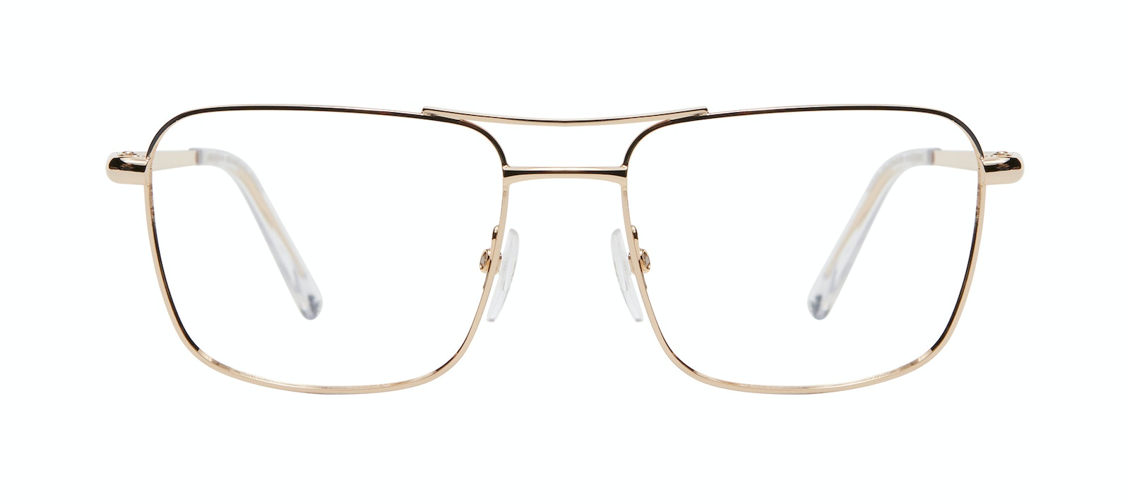Affordable Fashion Glasses Aviator Eyeglasses Men Emerge Gold Front