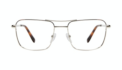 Affordable Fashion Glasses Aviator Eyeglasses Men Emerge Silver Front