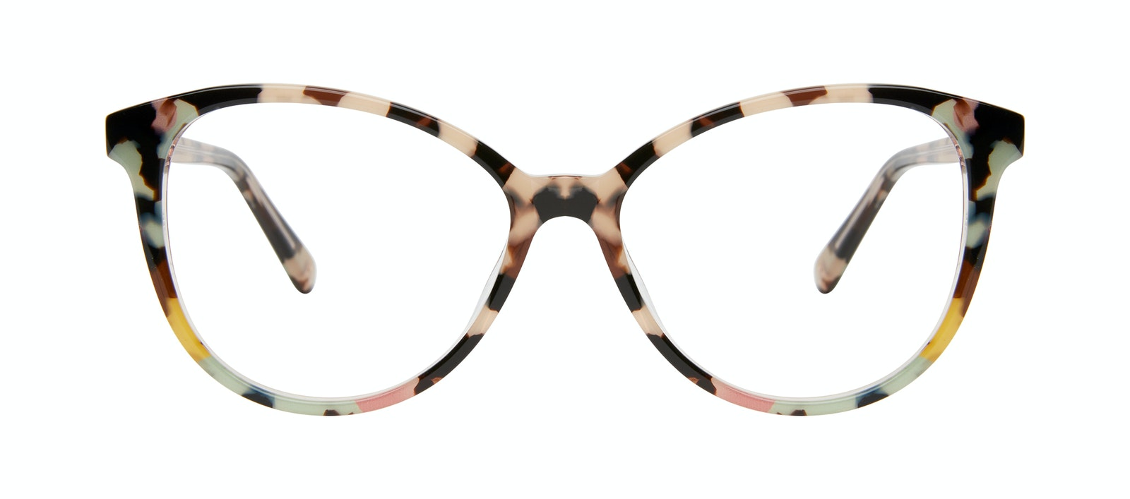 Affordable Fashion Glasses Cat Eye Eyeglasses Women Esprit Pastel Tort Front