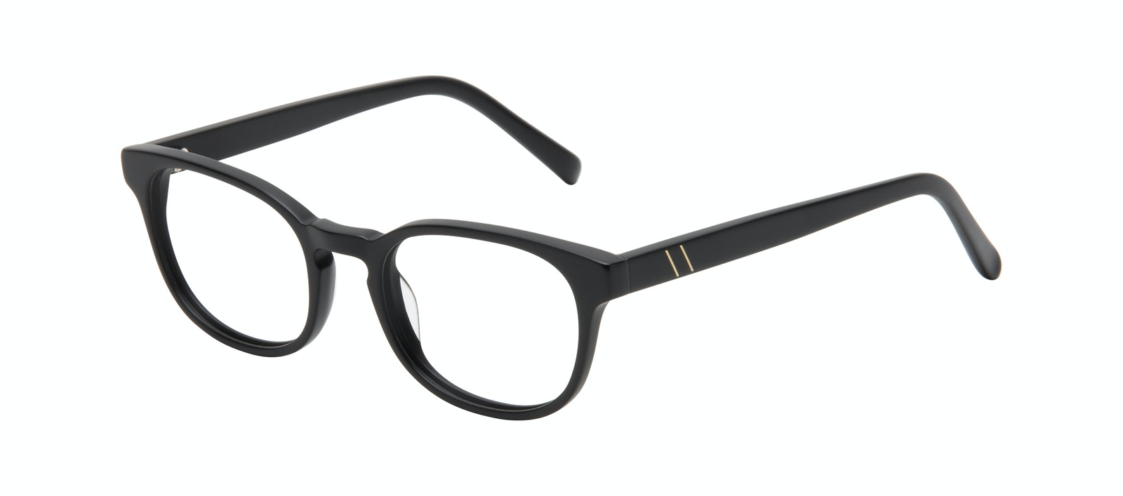 Affordable Fashion Glasses Square Eyeglasses Men Essence Black Matte Tilt