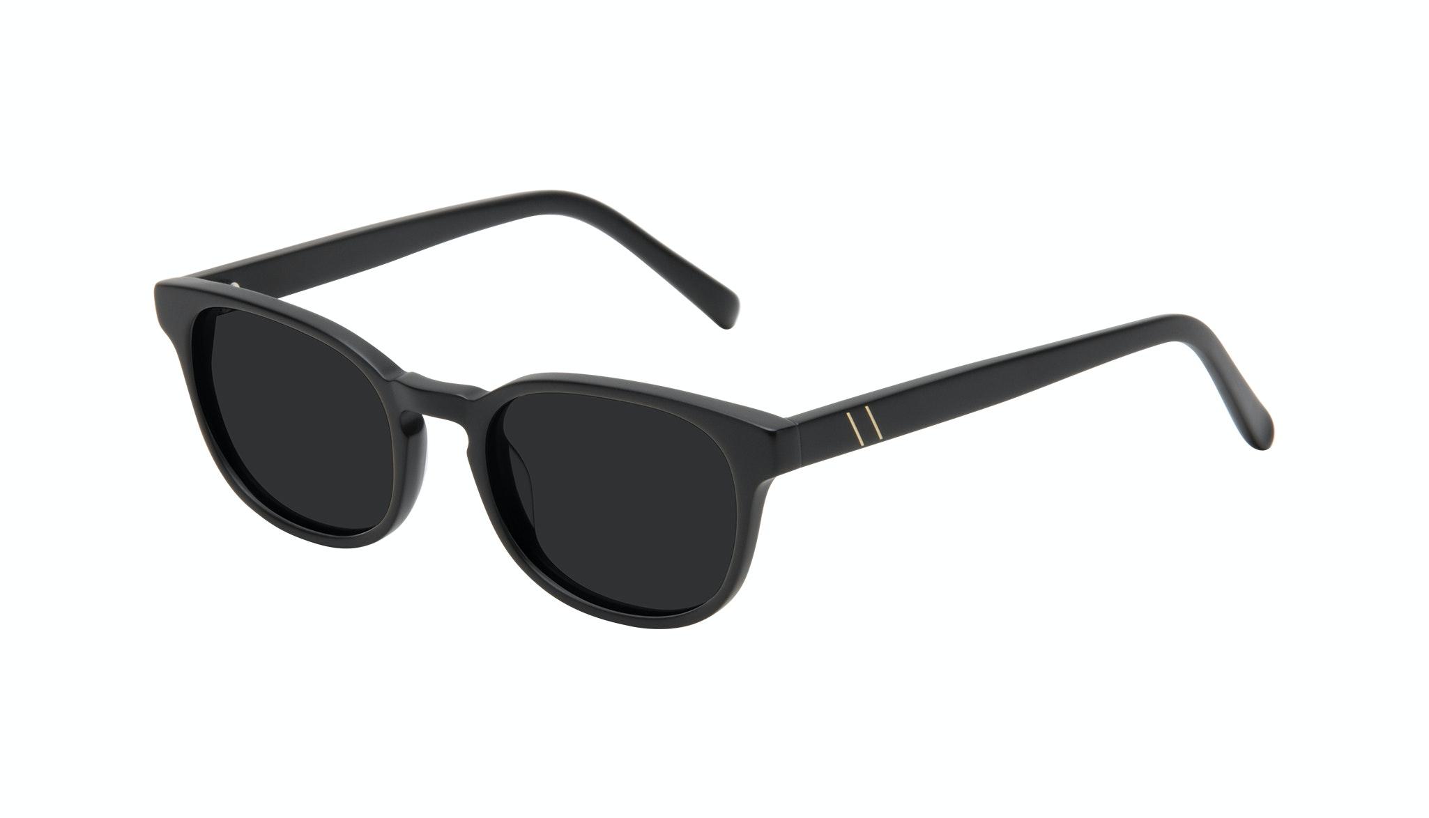 Affordable Fashion Glasses Square Sunglasses Men Essence Black Matte Tilt