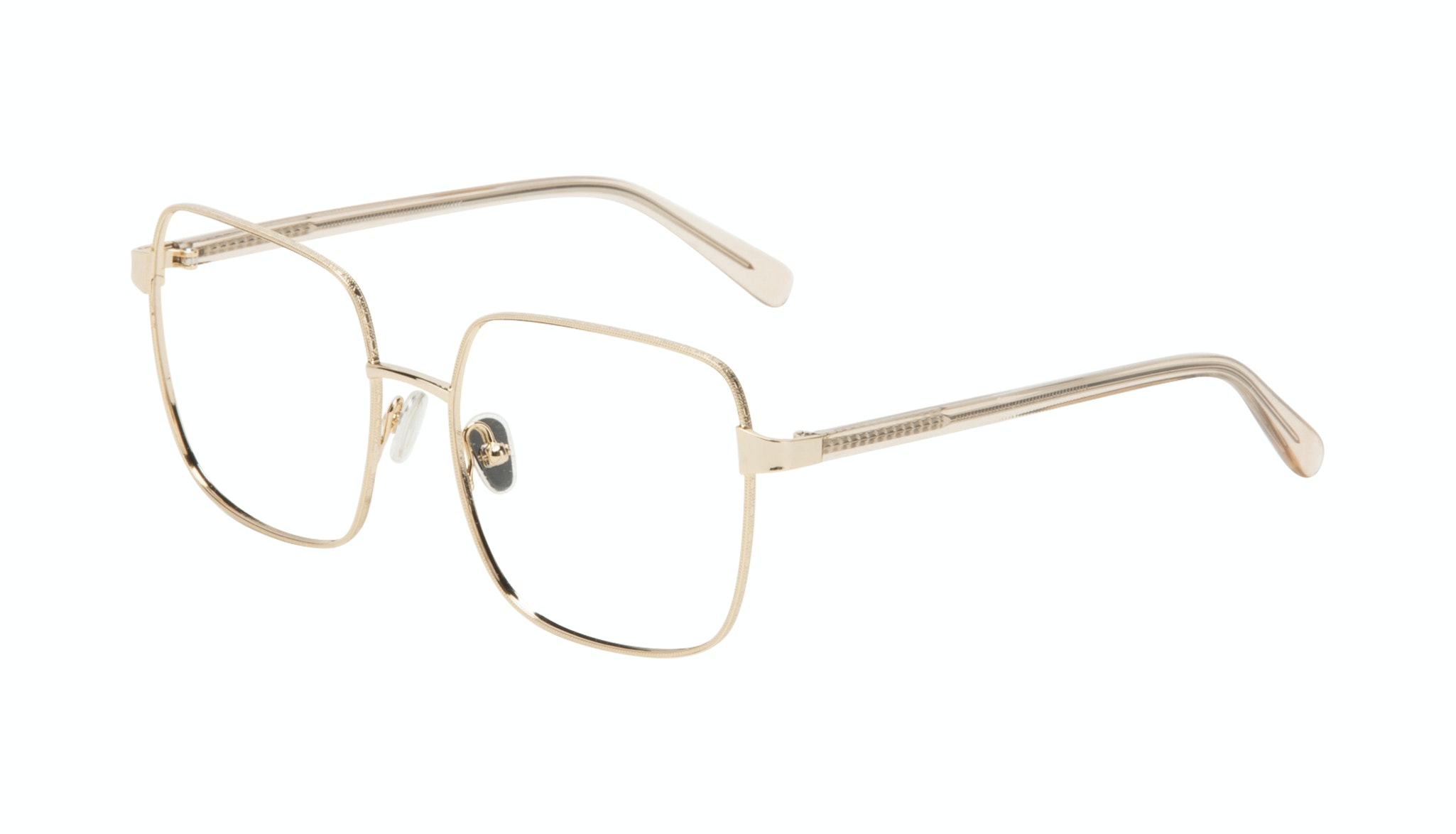 Affordable Fashion Glasses Square Eyeglasses Women Fab Gold Tilt