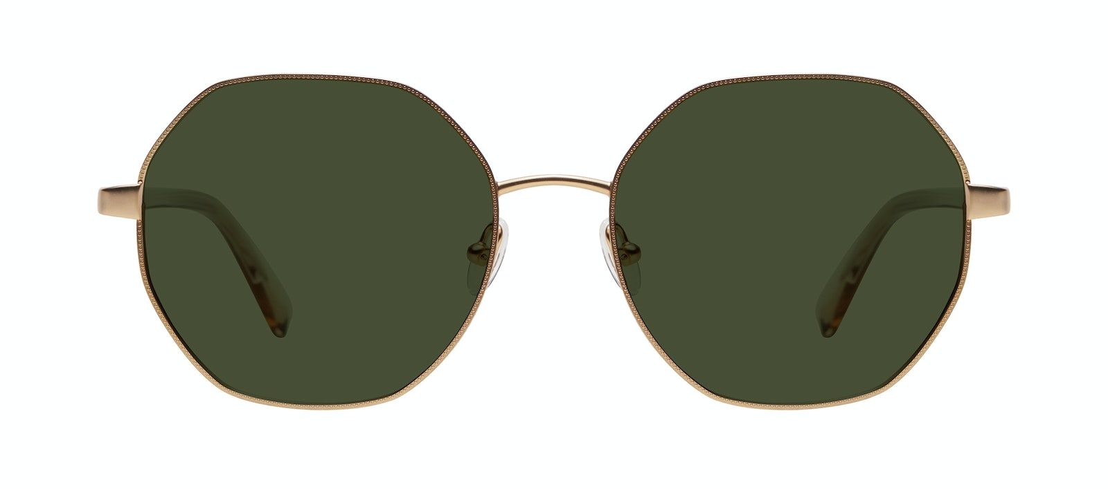 Affordable Fashion Glasses Round Sunglasses Women Fantasy Matte Gold Front