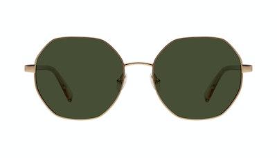 Affordable Fashion Glasses Round Sunglasses Women Fantasy Matte Gold Front