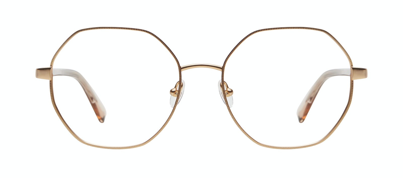 Affordable Fashion Glasses Round Eyeglasses Women Fantasy Matte Gold Front