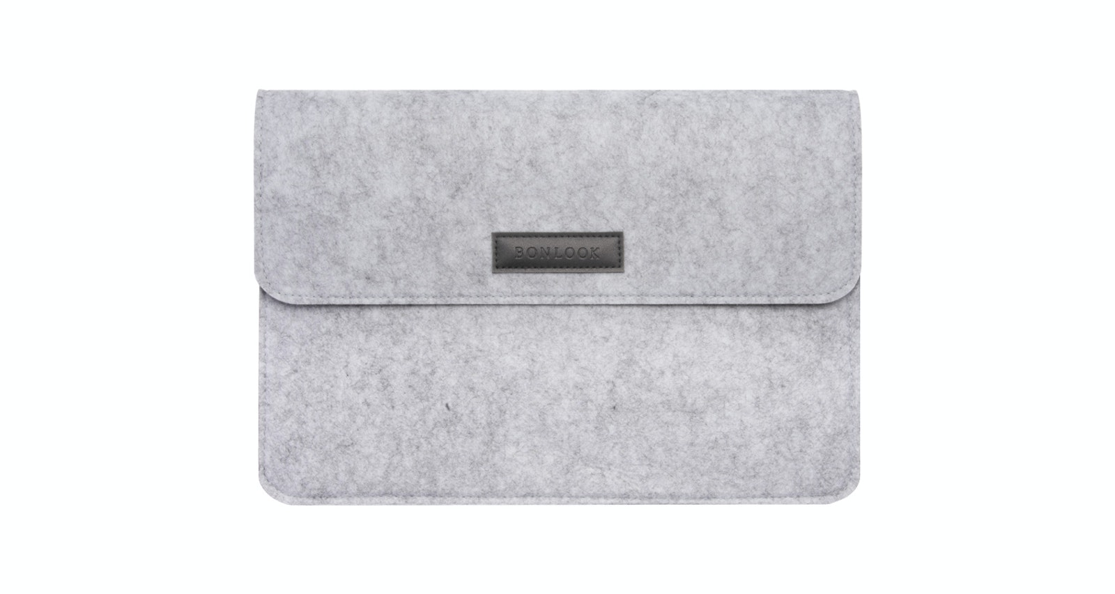 Affordable Fashion Glasses Accessory Men Women Felt Laptop Bag Grey