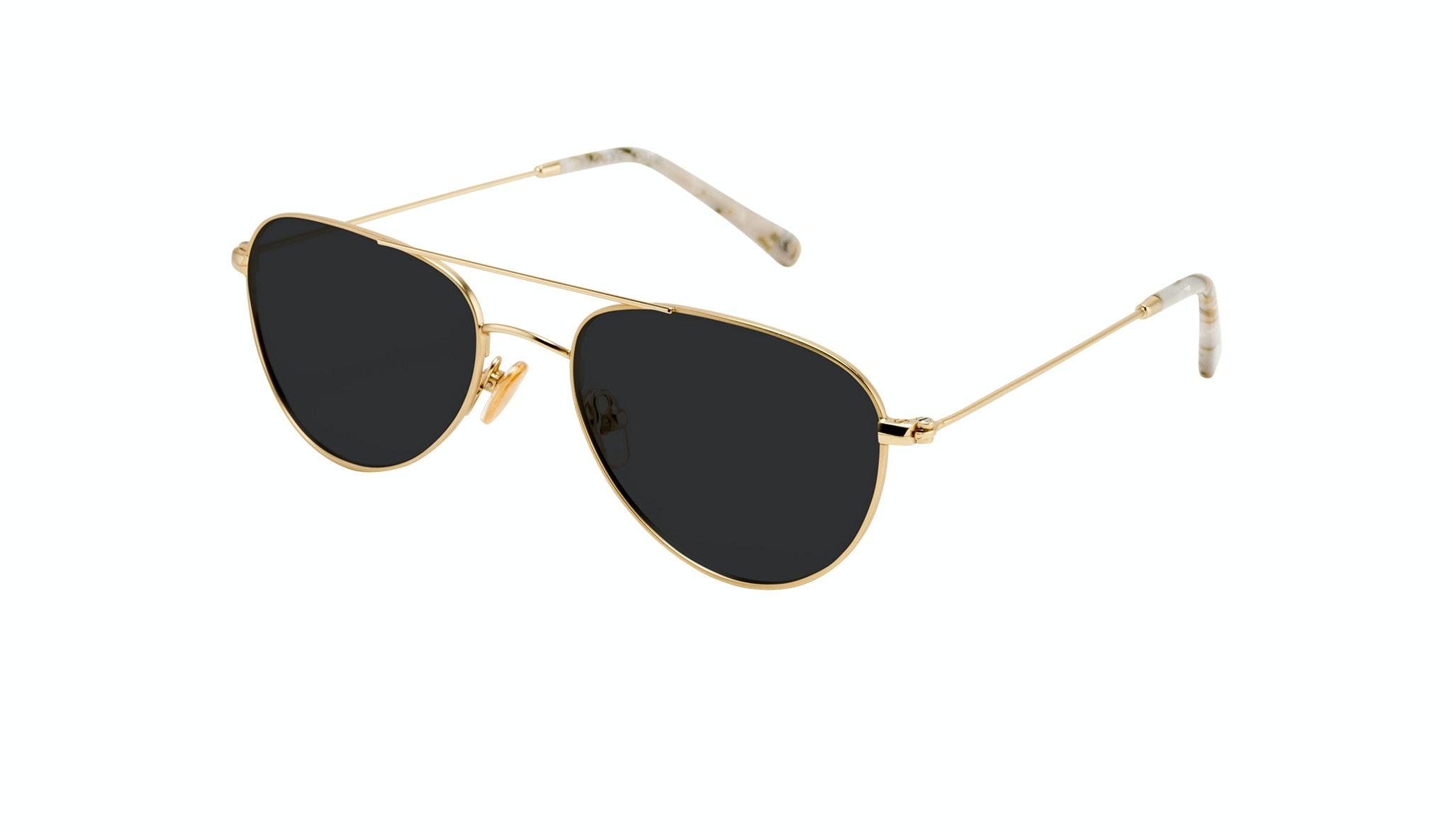 Affordable Fashion Glasses Aviator Sunglasses Women Figure Gold Tilt