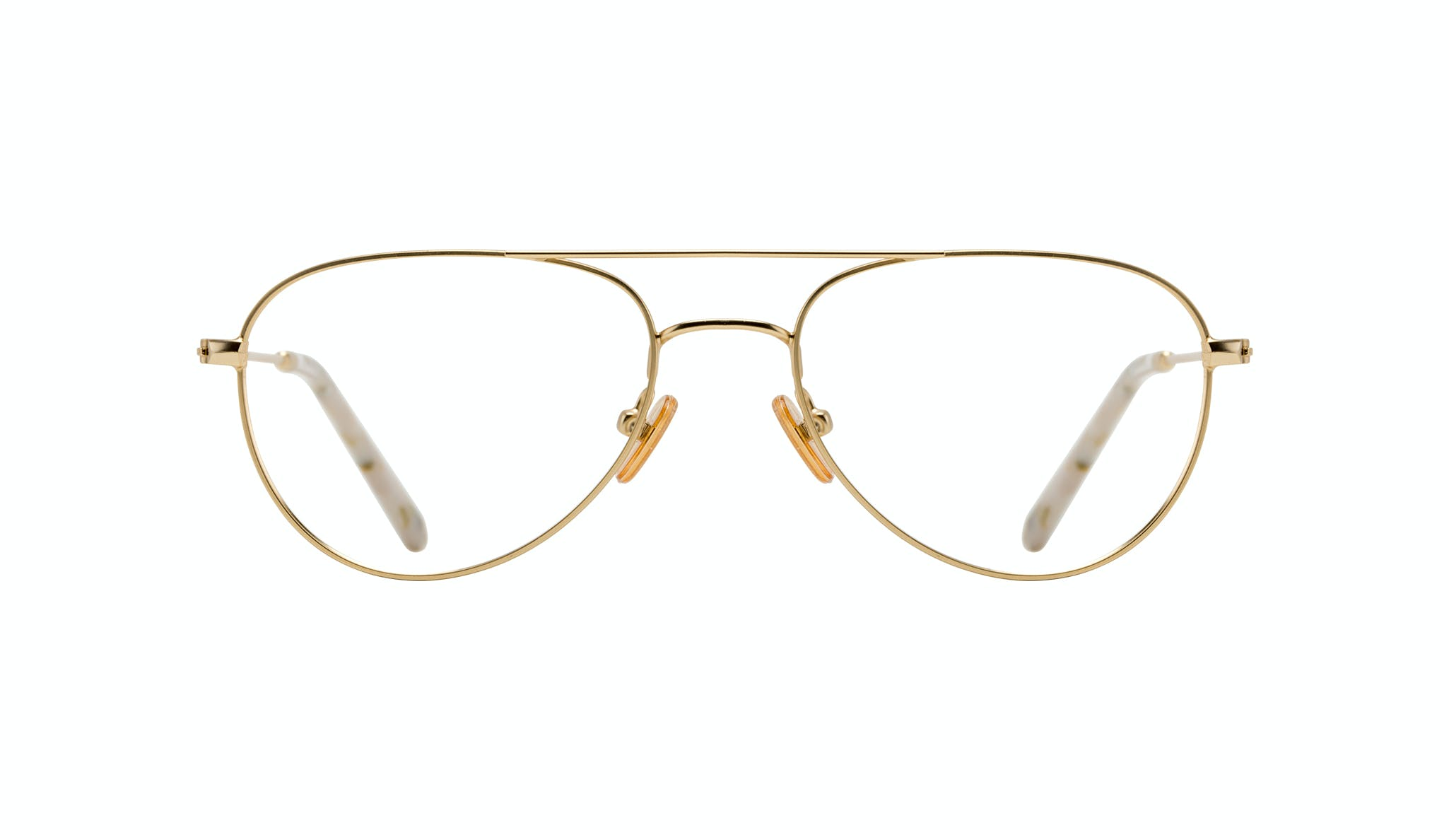 Affordable Fashion Glasses Aviator Eyeglasses Women Figure Gold Front