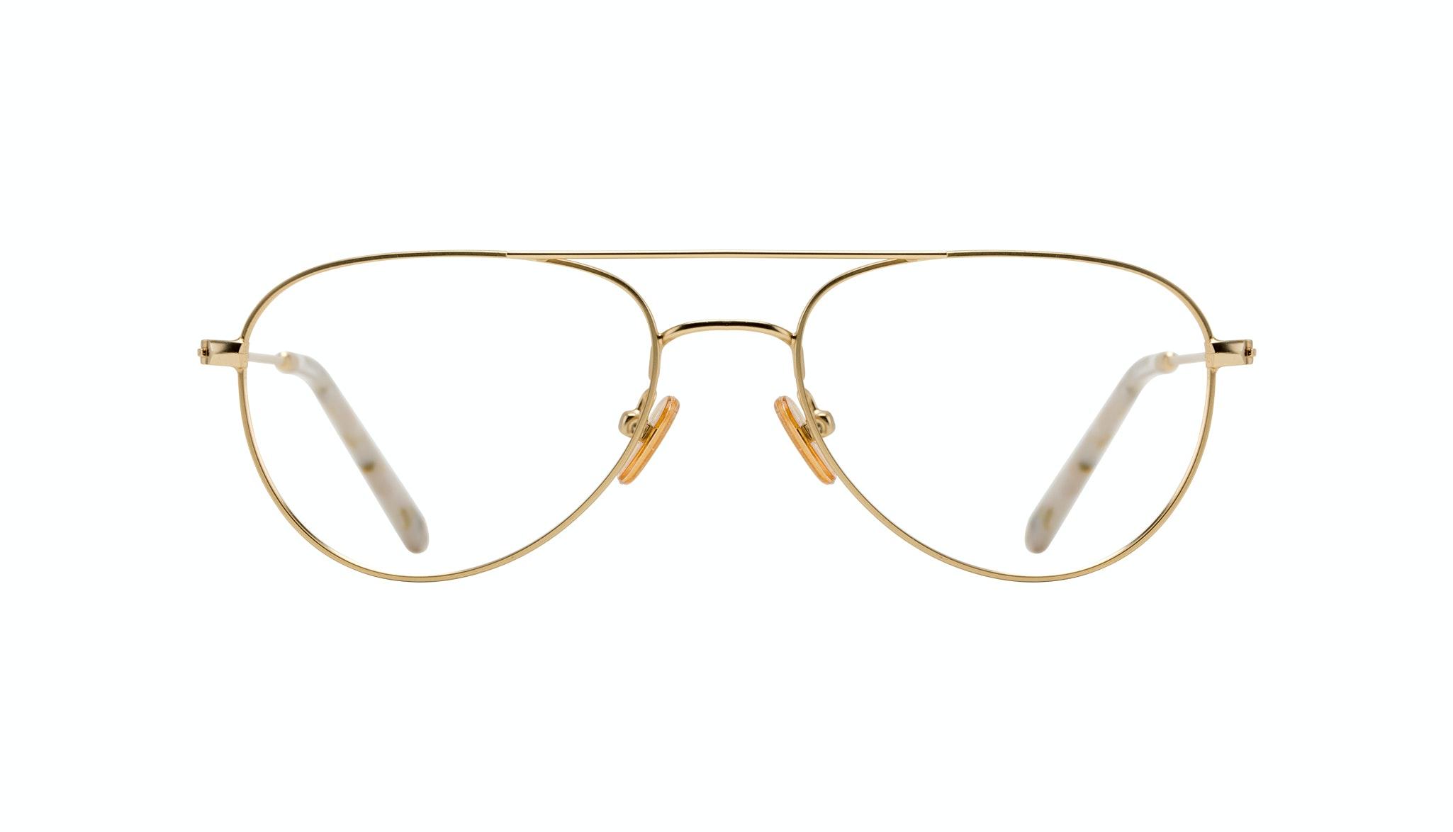 Affordable Fashion Glasses Aviator Eyeglasses Women Figure Gold Front