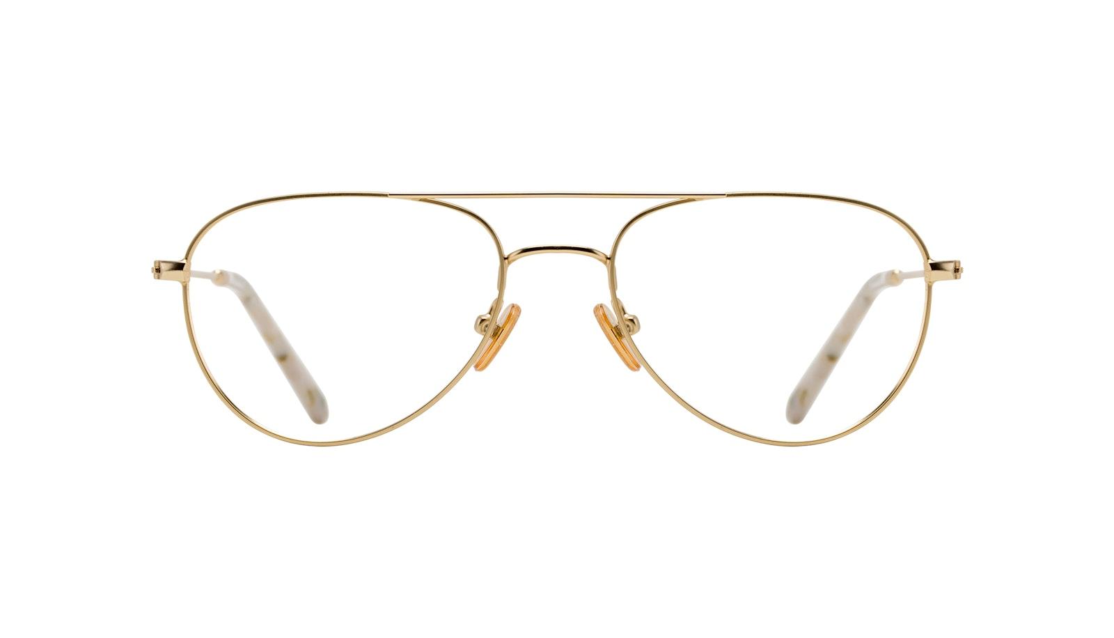 Affordable Fashion Glasses Aviator Eyeglasses Women Figure Gold