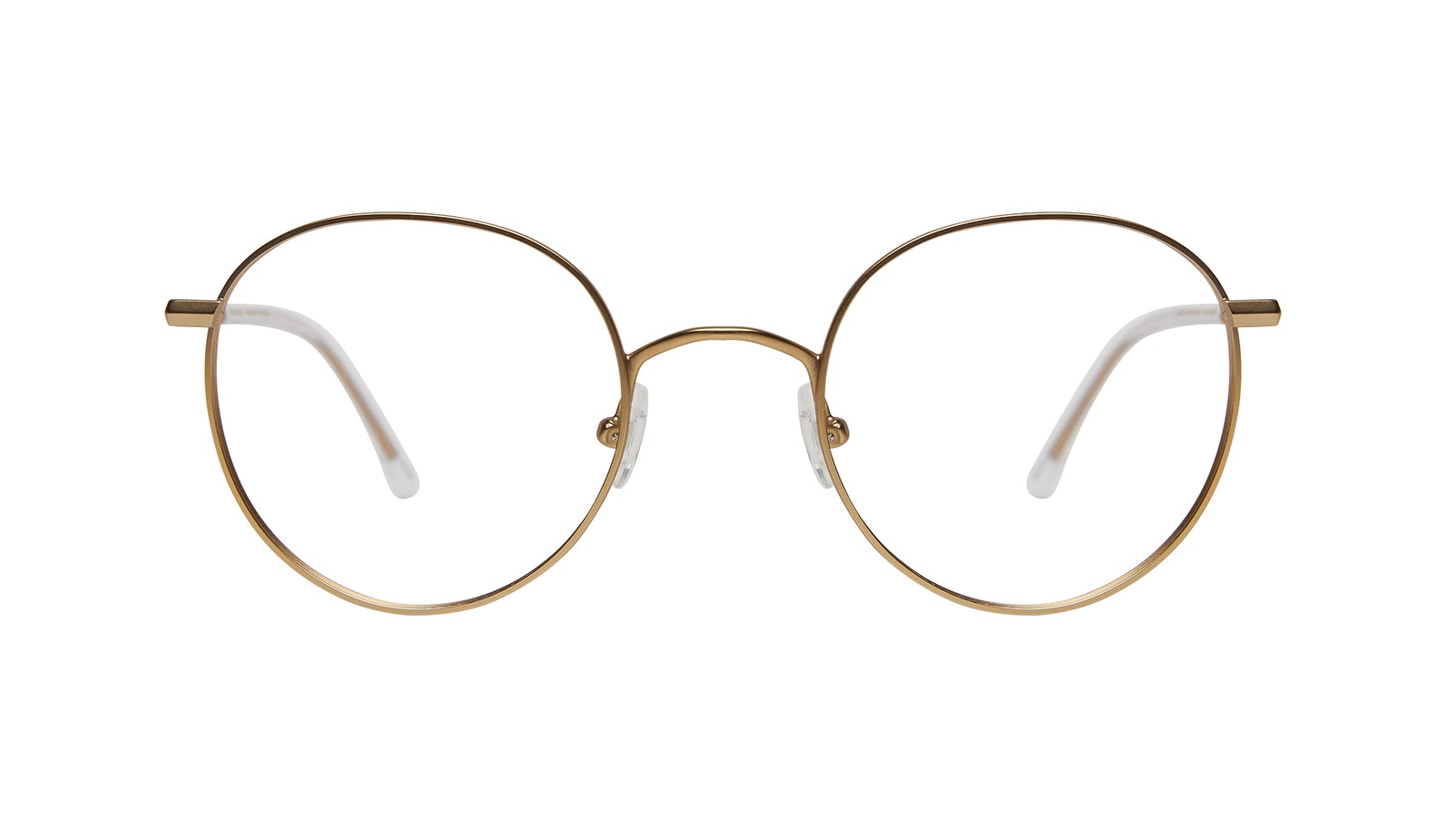 Affordable Fashion Glasses Round Eyeglasses Women Finesse Matte Gold