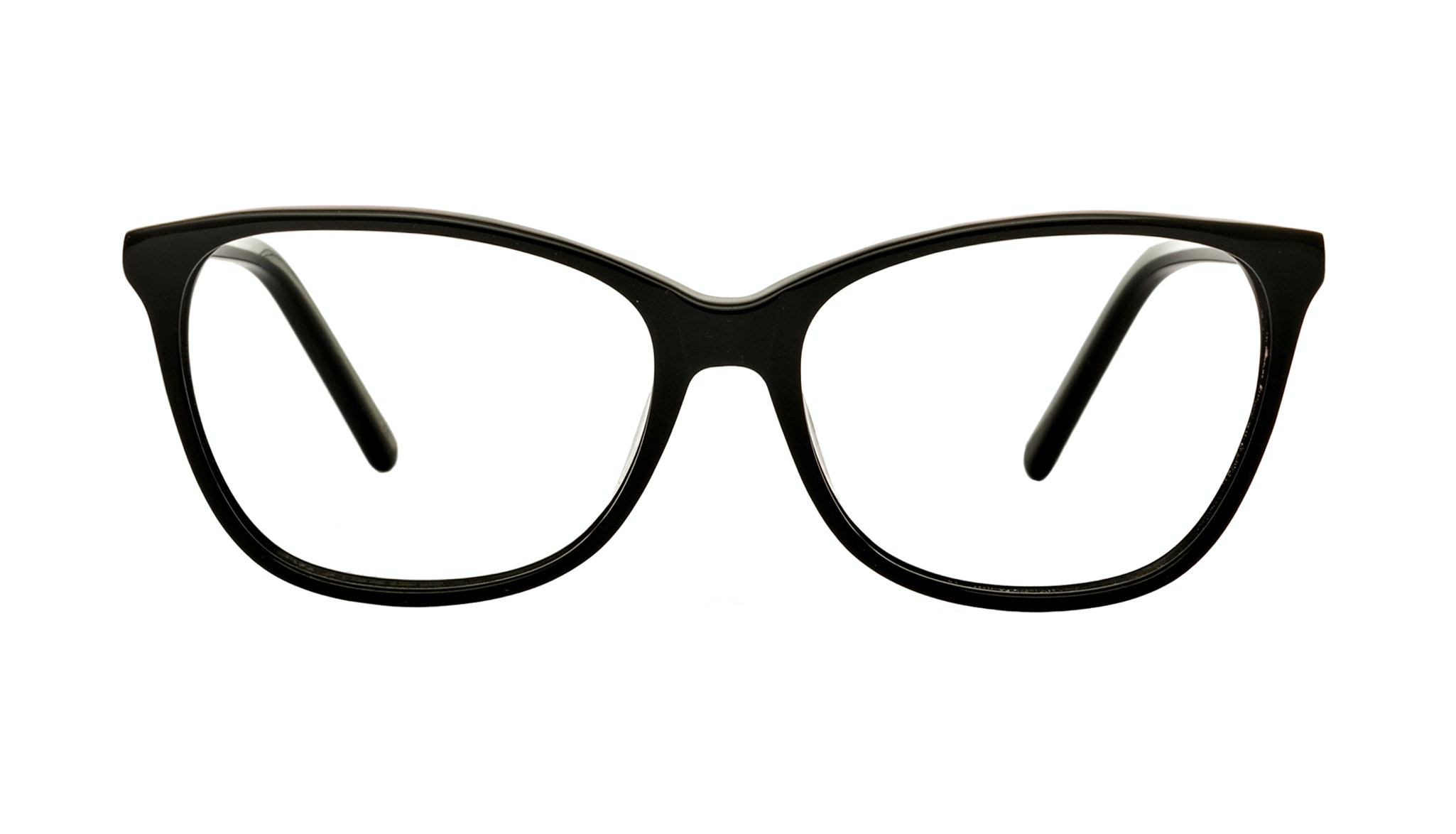 Affordable Fashion Glasses Cat Eye Rectangle Eyeglasses Women Flair Onyx Front