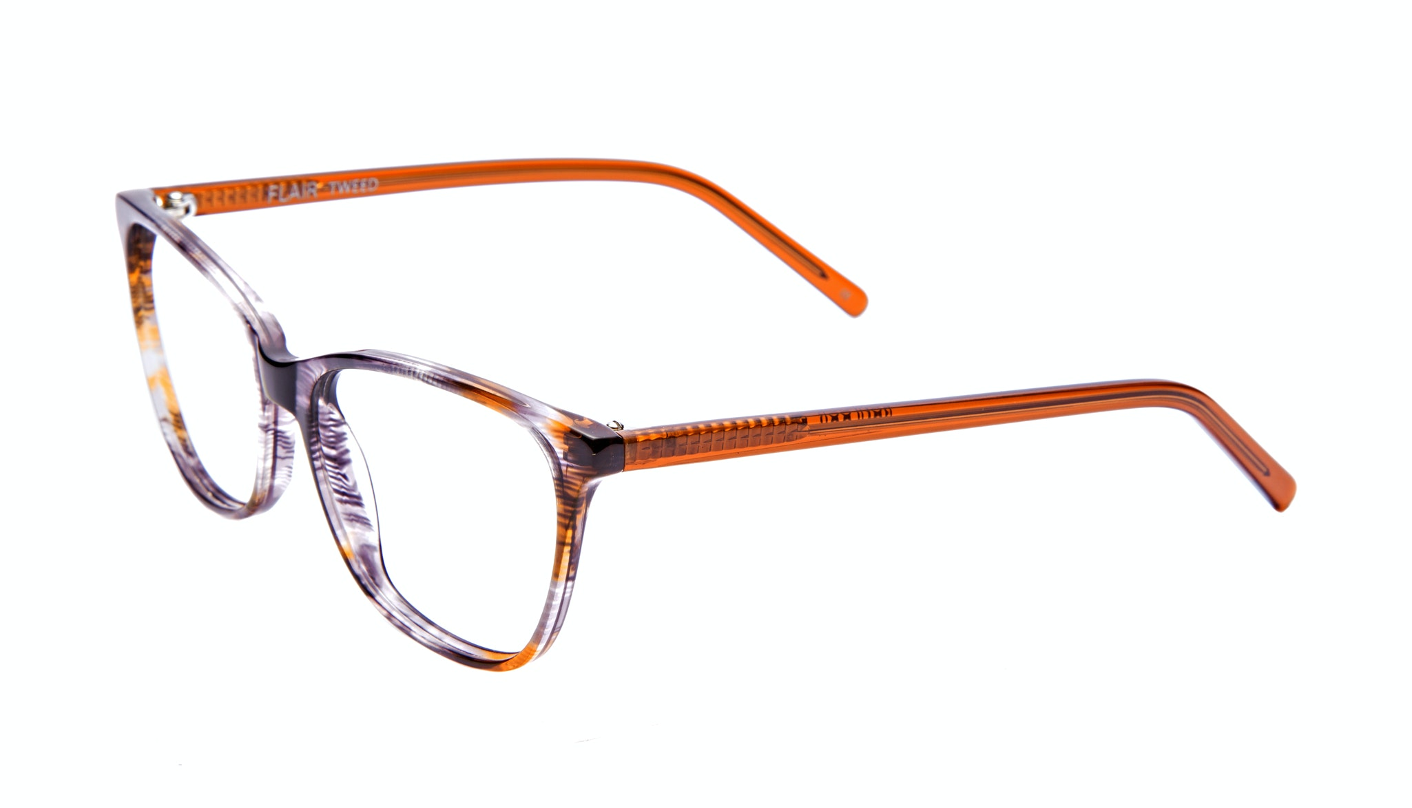 Affordable Fashion Glasses Cat Eye Rectangle Eyeglasses Women Flair Tweed Tilt
