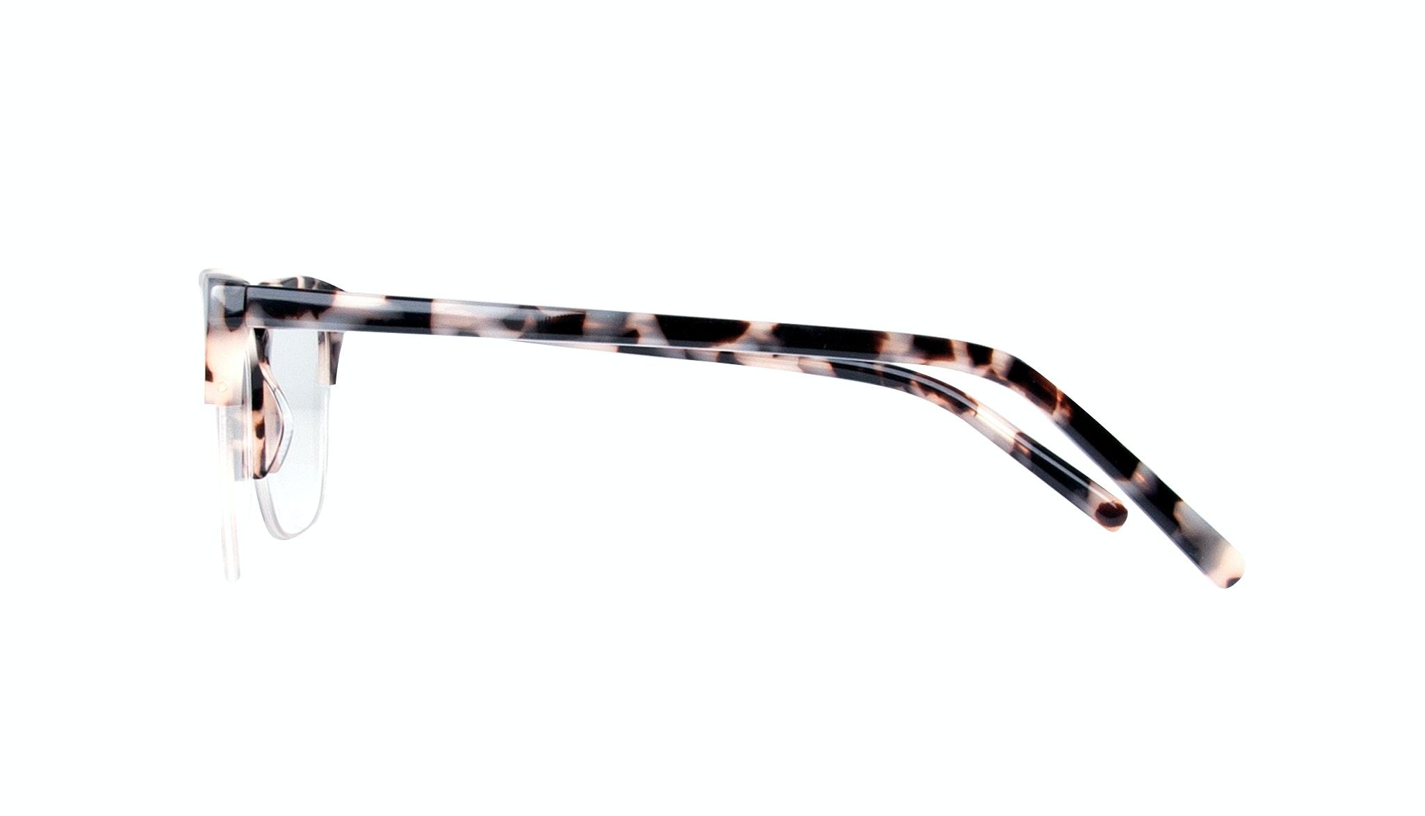Affordable Fashion Glasses Cat Eye Rectangle Semi-Rimless Eyeglasses Women Flair Light Granite Side