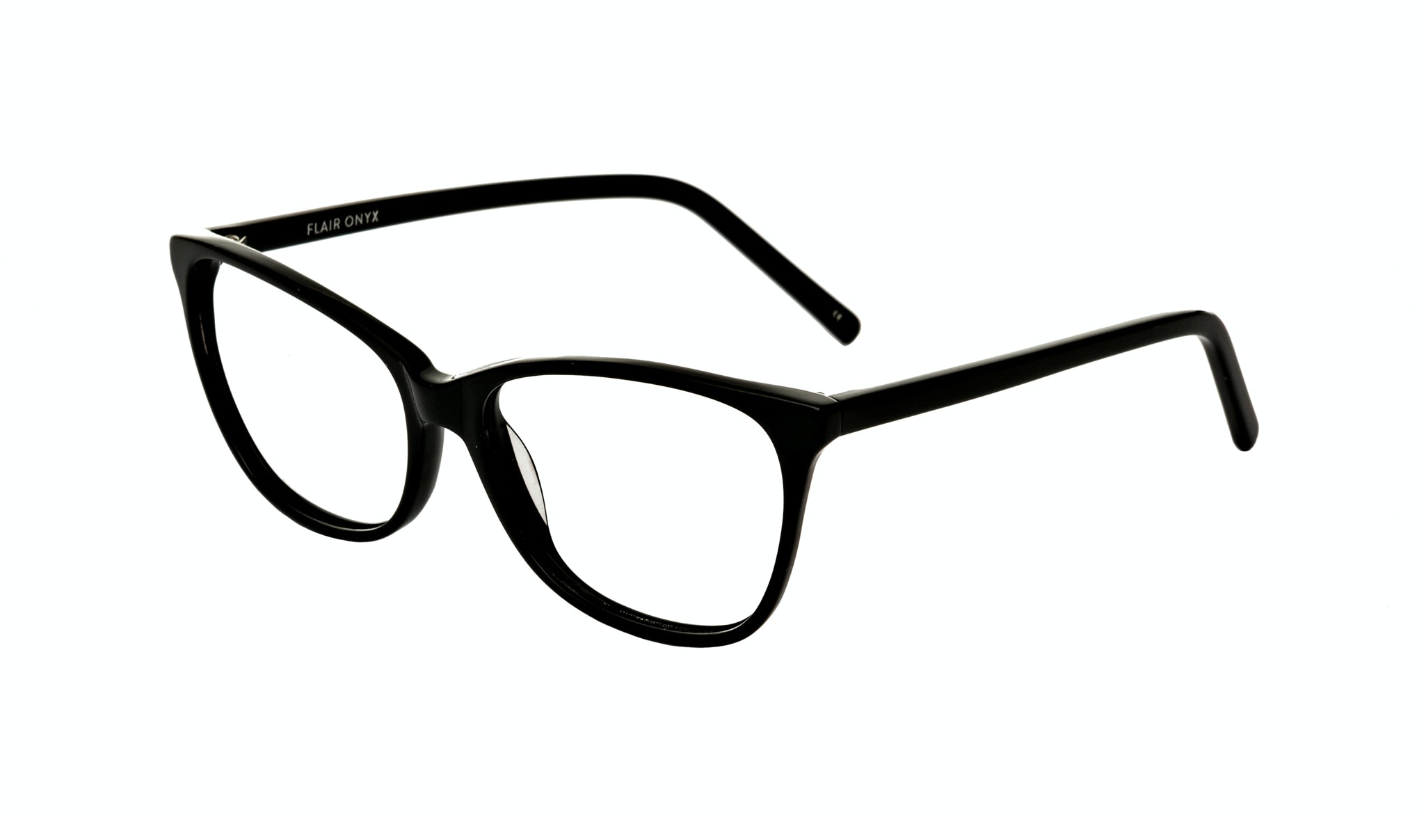 Affordable Fashion Glasses Cat Eye Rectangle Eyeglasses Women Flair Onyx Tilt