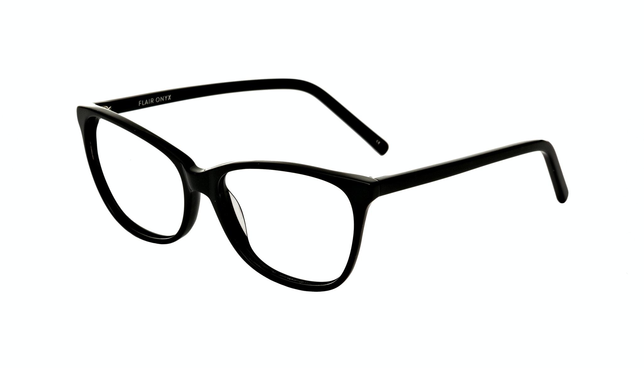 Affordable Fashion Glasses Cat Eye Rectangle Eyeglasses Women Flair Onyx Tilt